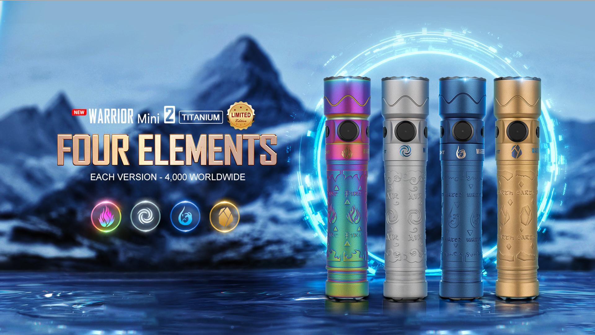 Warrior Mini 2 EDC Flashlight Titanium