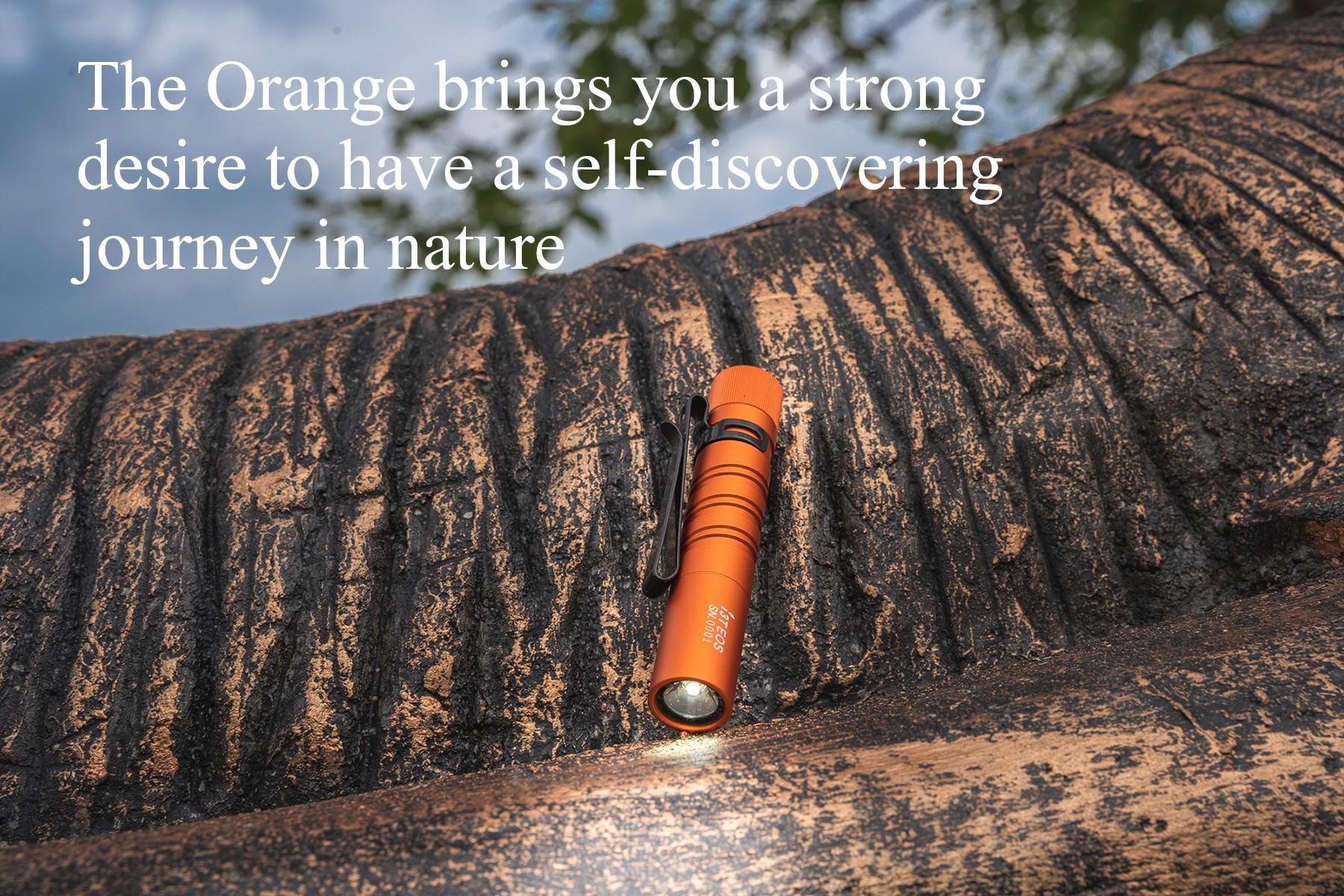 Olight I3T EOS Orange Small Flashlight Candied Orange