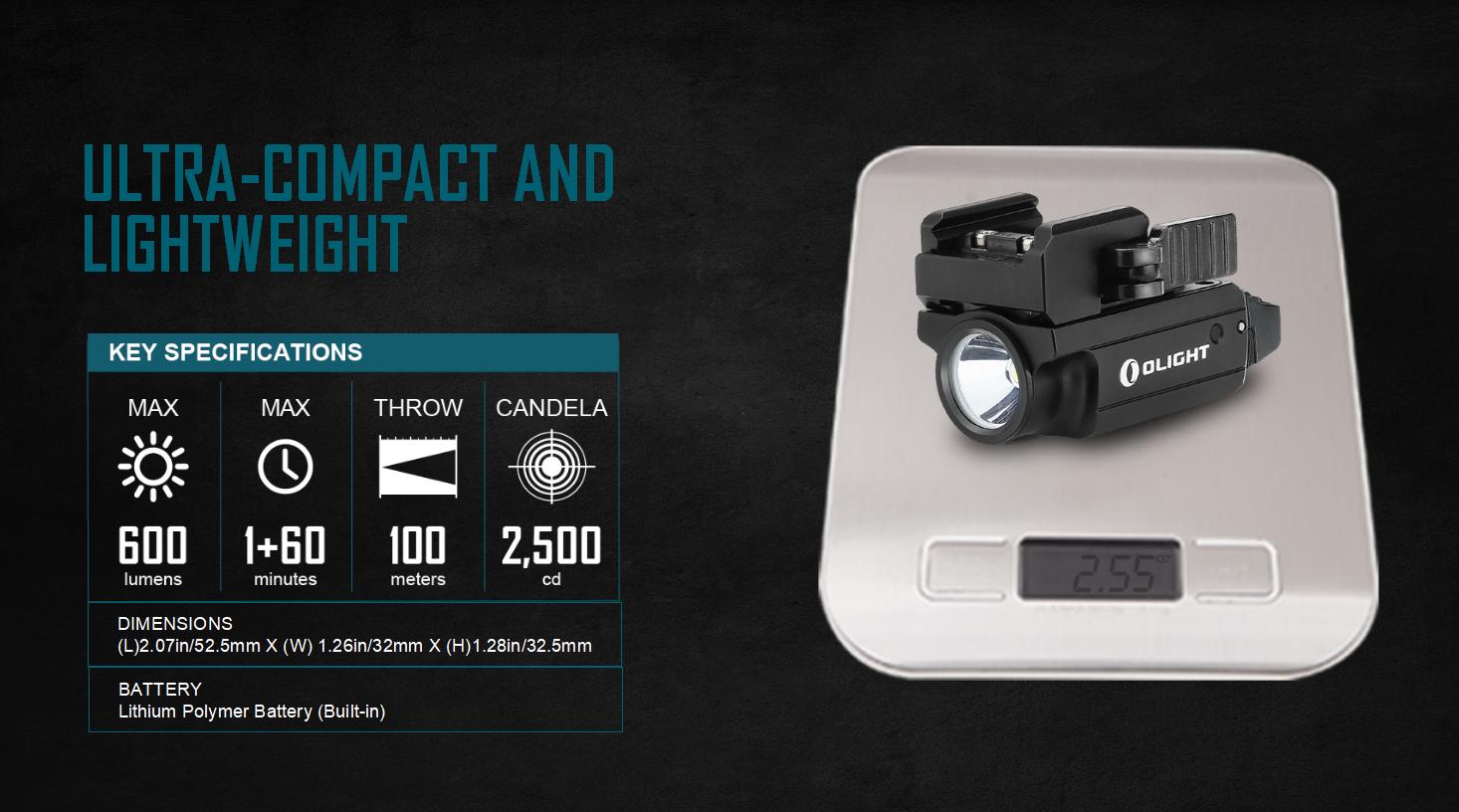 PL-Mini 2 Tactical Flashlight 600 lumens