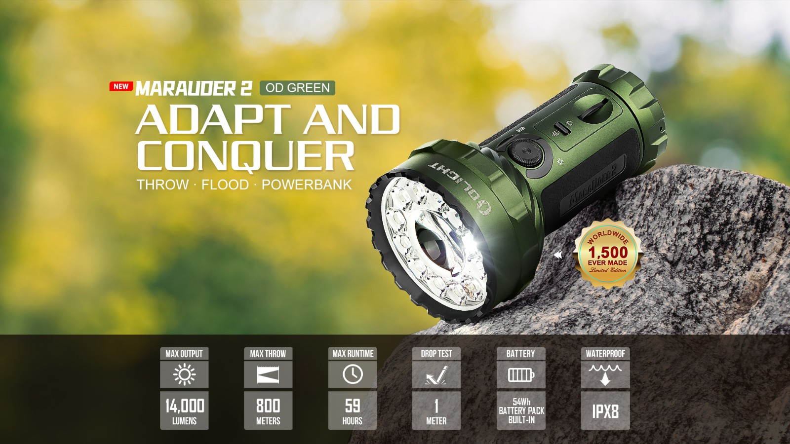 Marauder 2 Bright LED Light