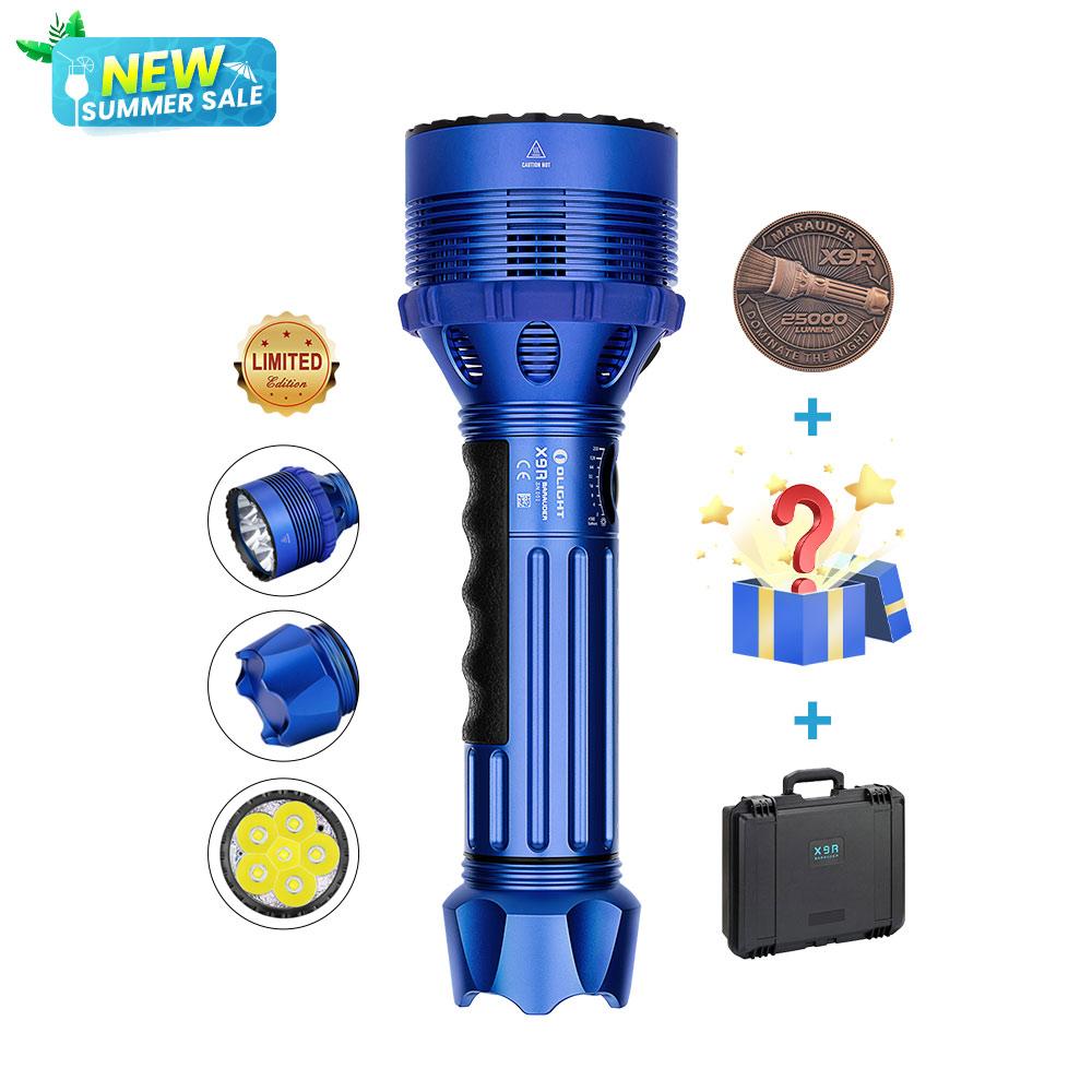 Olight X9R Marauder Super Bright Flashlight- Blue