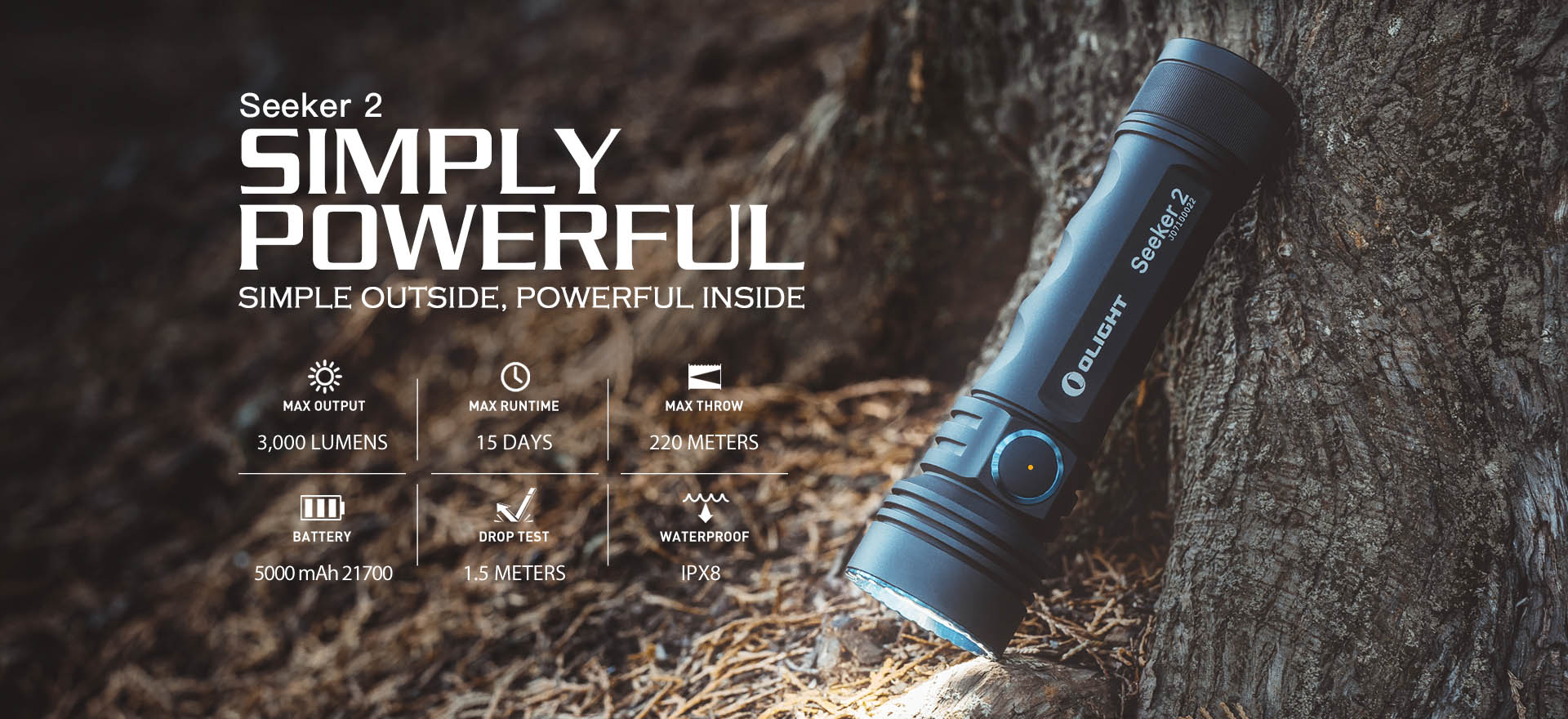 Seeker 2 high power flashlight 3000 lumens