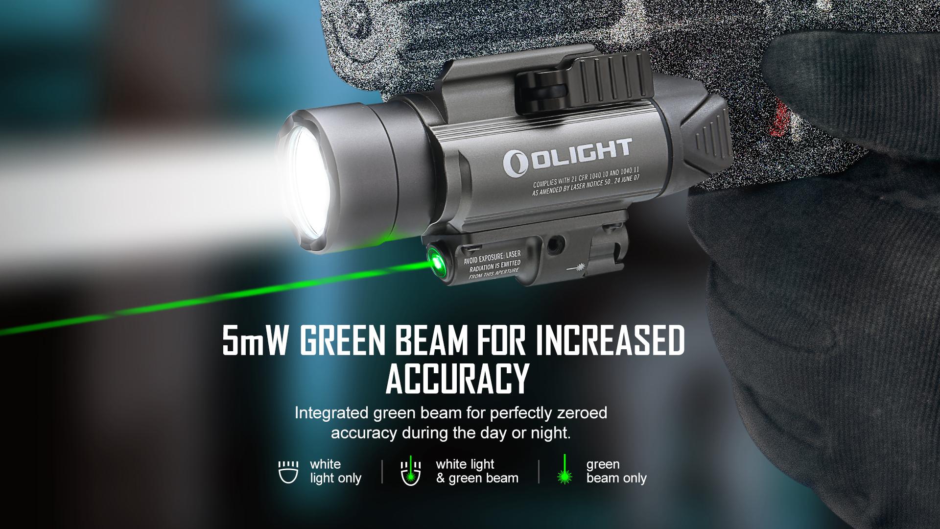 Olight Baldr Pro Green Laser Tactical Light Dual Modes