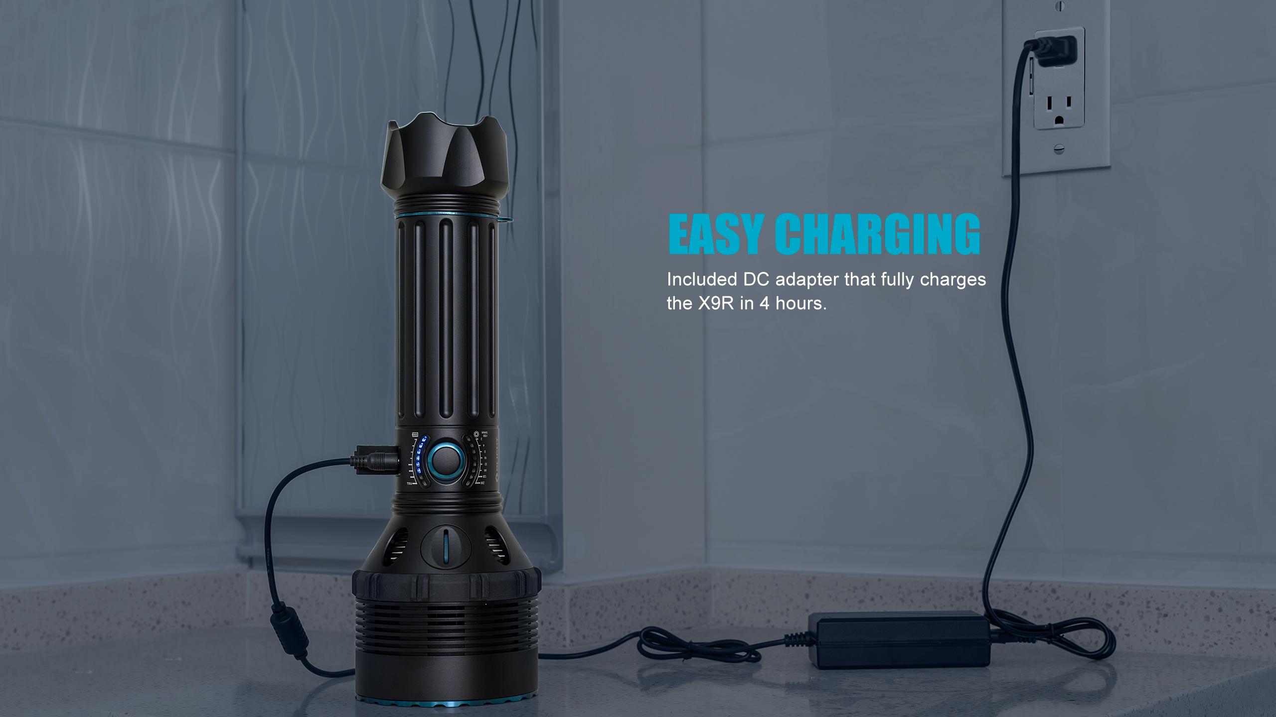 X9R Brightest Flashlight Easy Charging