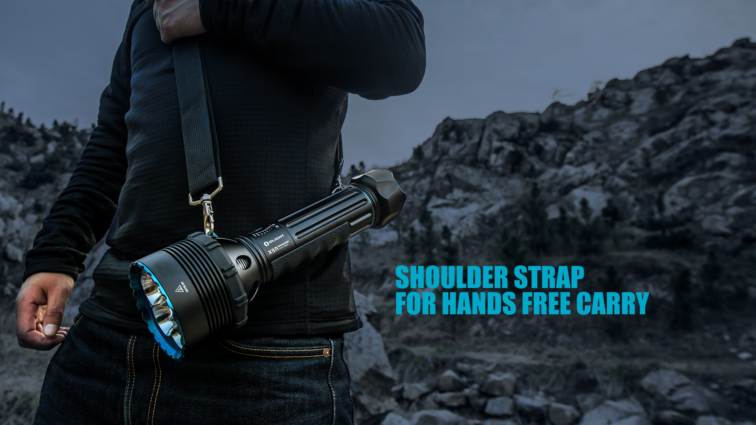 X9R Brightest Flashlight Shoulder Strap