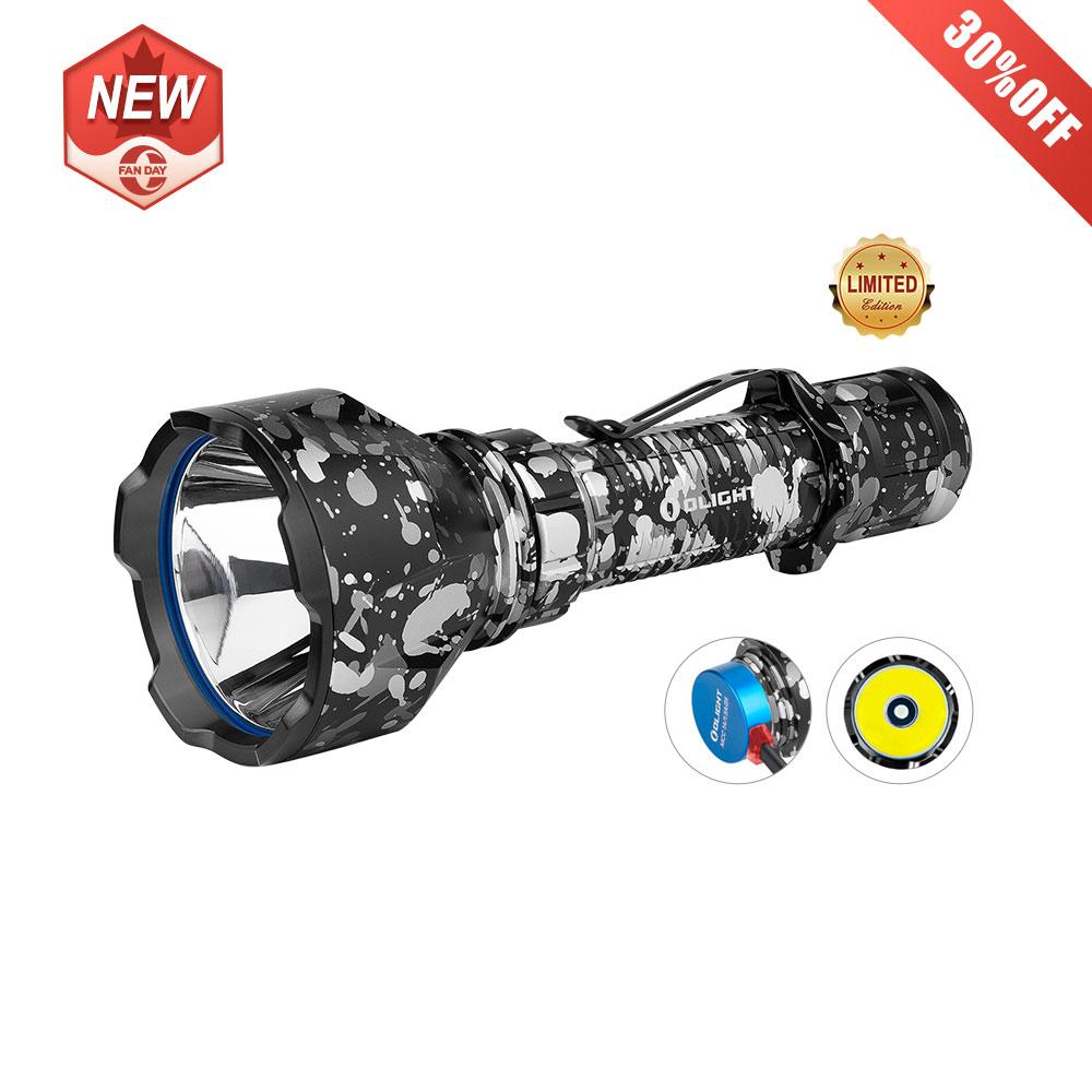 Olight Warrior X Turbo Grey Camouflage Tactical LED Flashlight