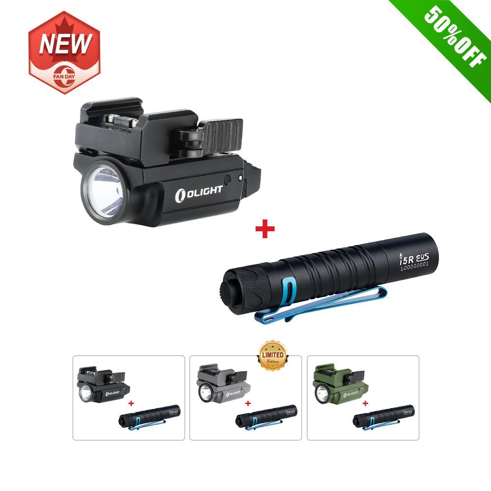 Olight PL-Mini 2 Valkyrie Mini Tactical Flashlight Bundle i5R Black