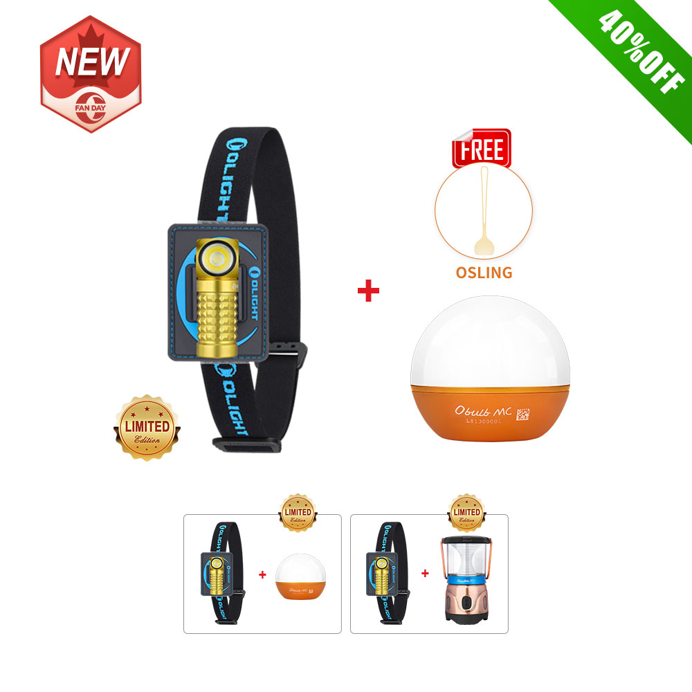 Olight Perun Mini Headlamp Yellow Bundle