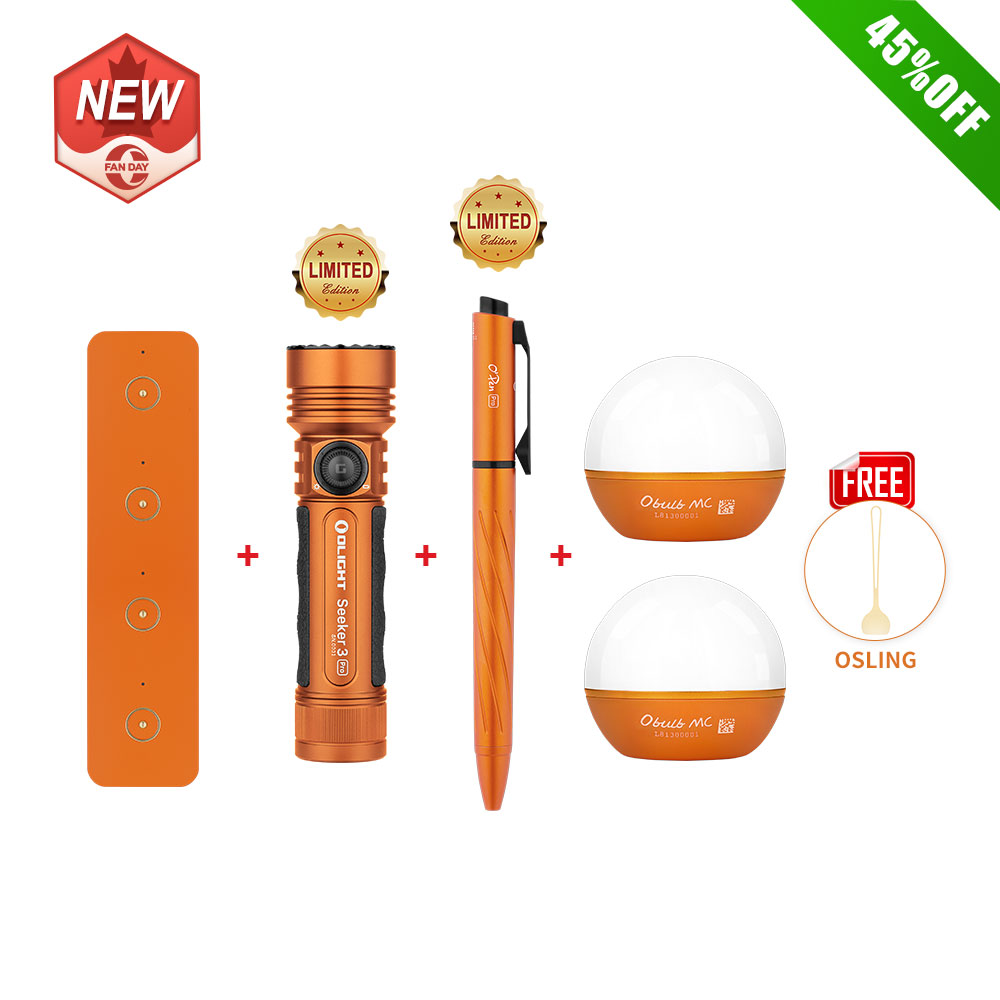 Olight All-Orange Pack Only For O-Fan Day