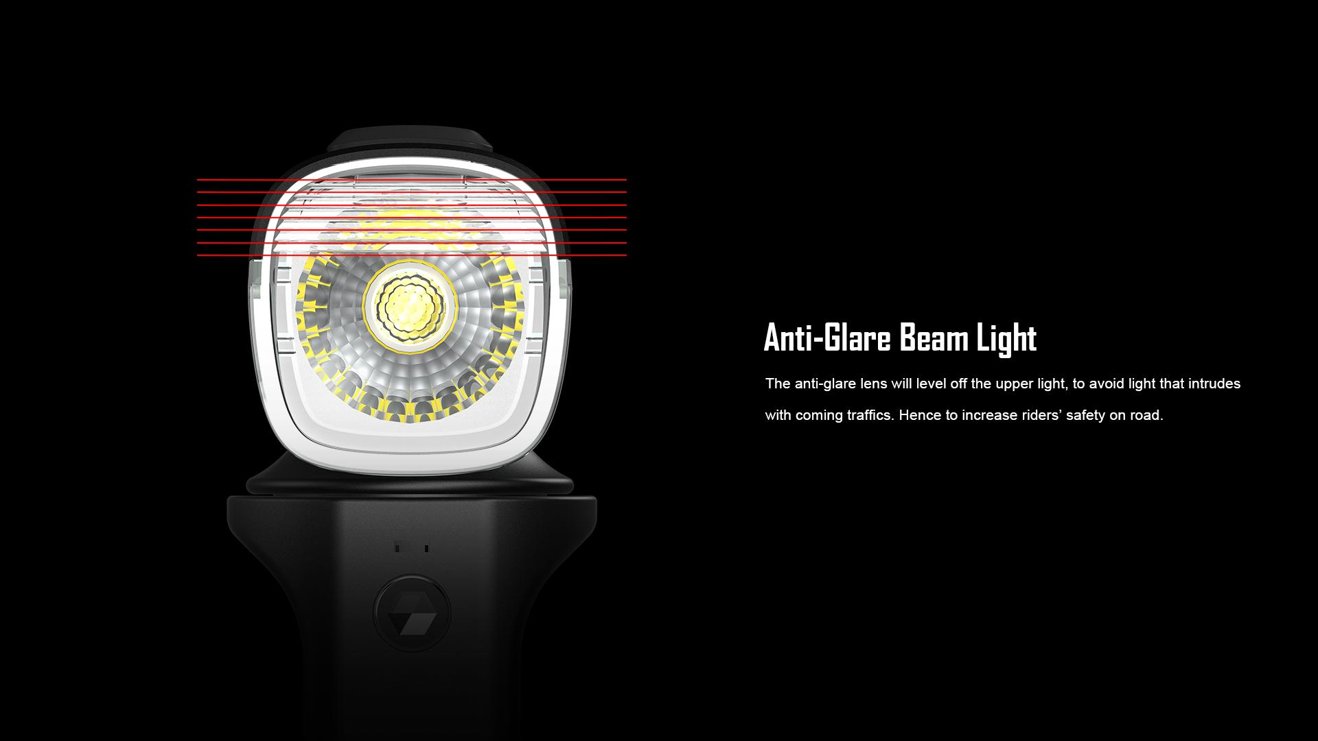 RN1500 Bike Headlight Anti-Glare Beam Light