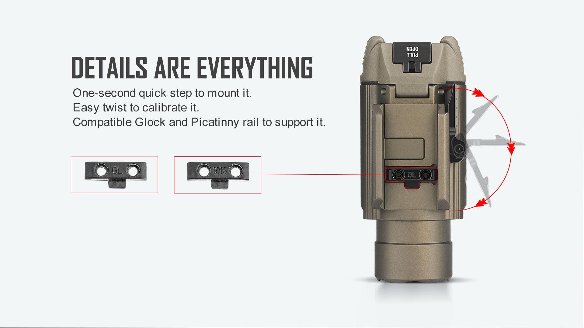 Baldr RL Light Laser Combo Details