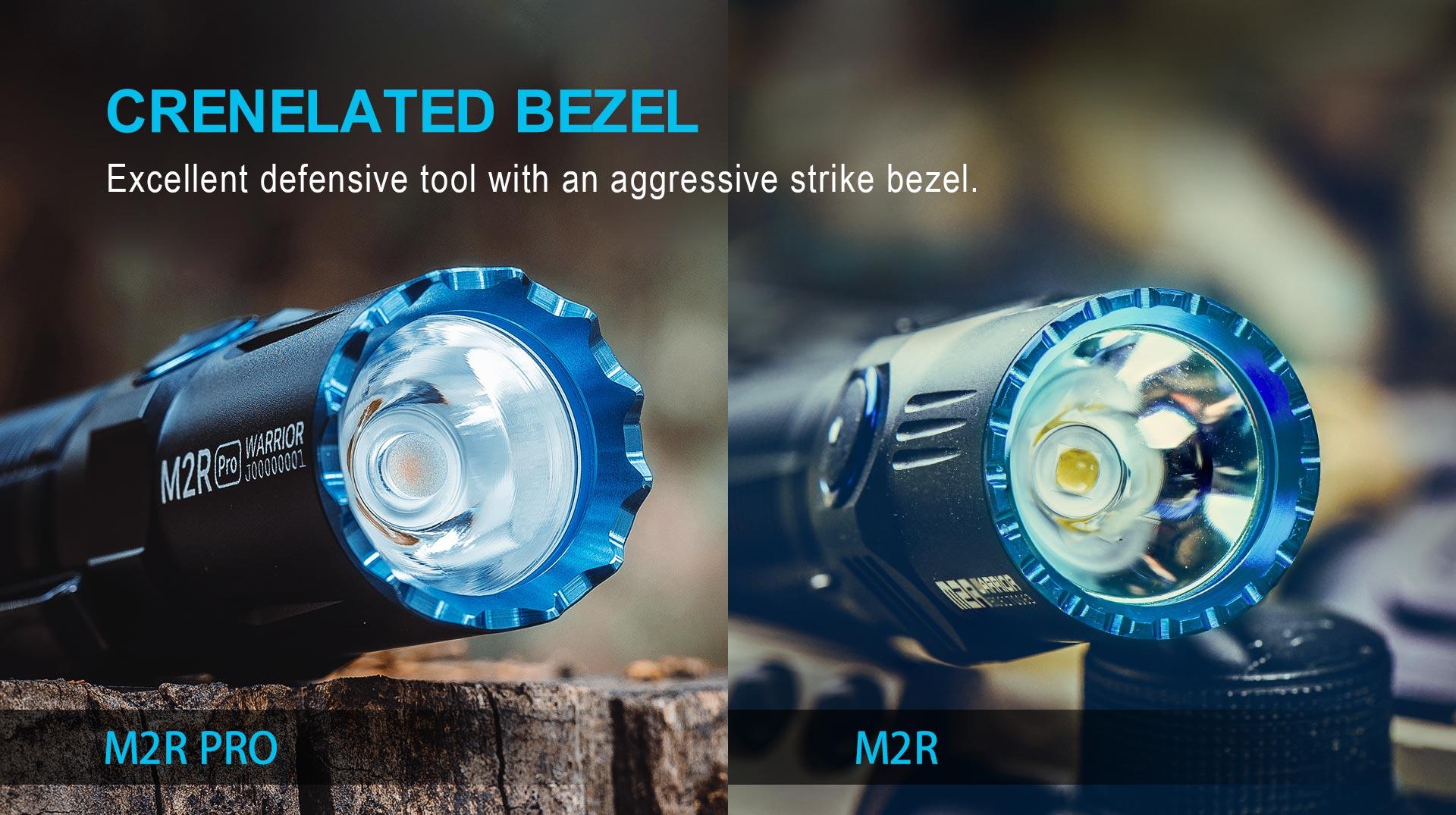 Olight M2R Pro Best Tactical Flashlight Bezel