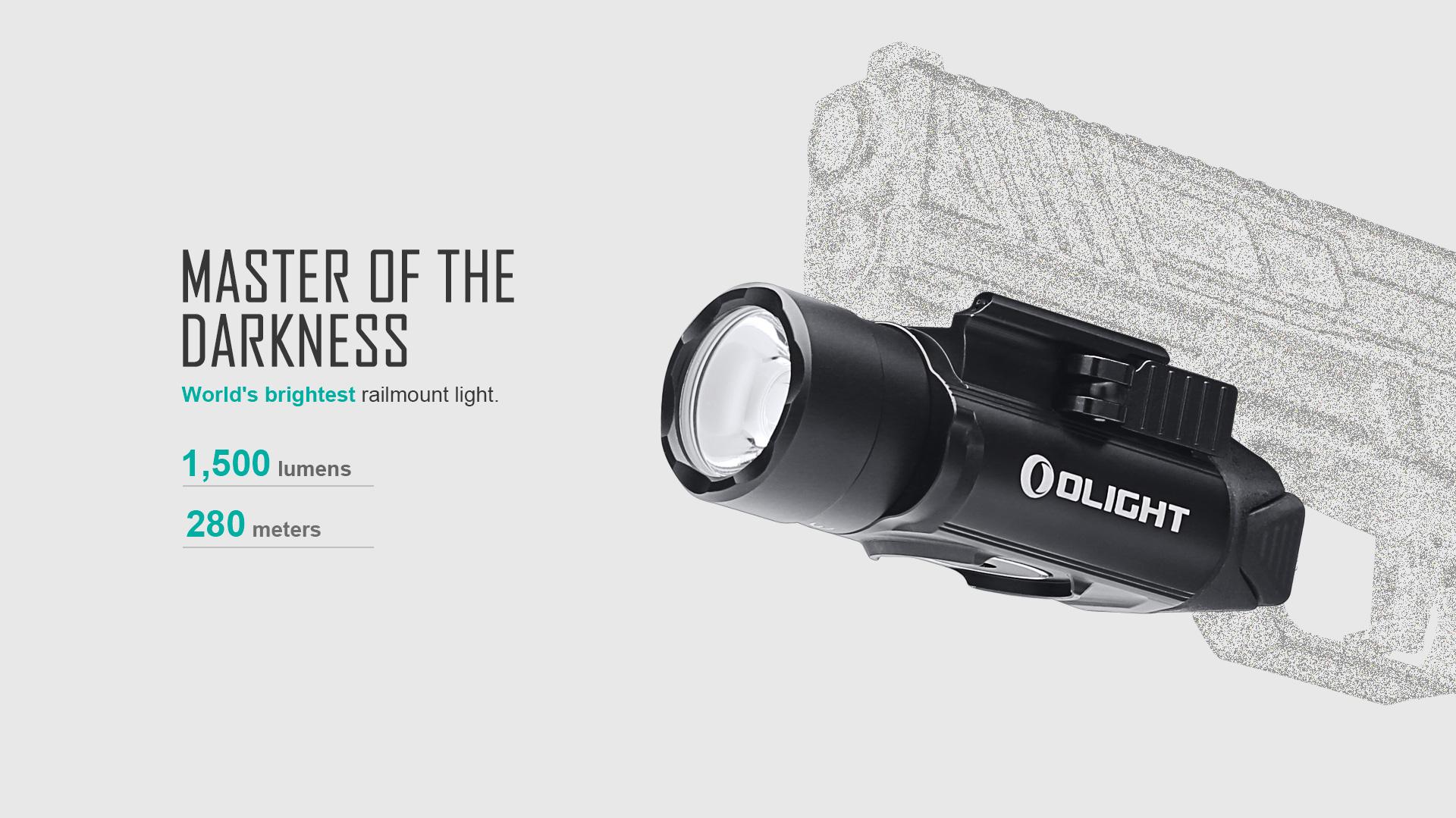 PL-Pro tactical rail light 1500 lumens