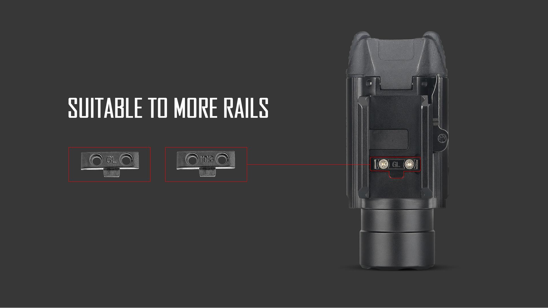 PL-Pro tactical rail light cross-compatibility