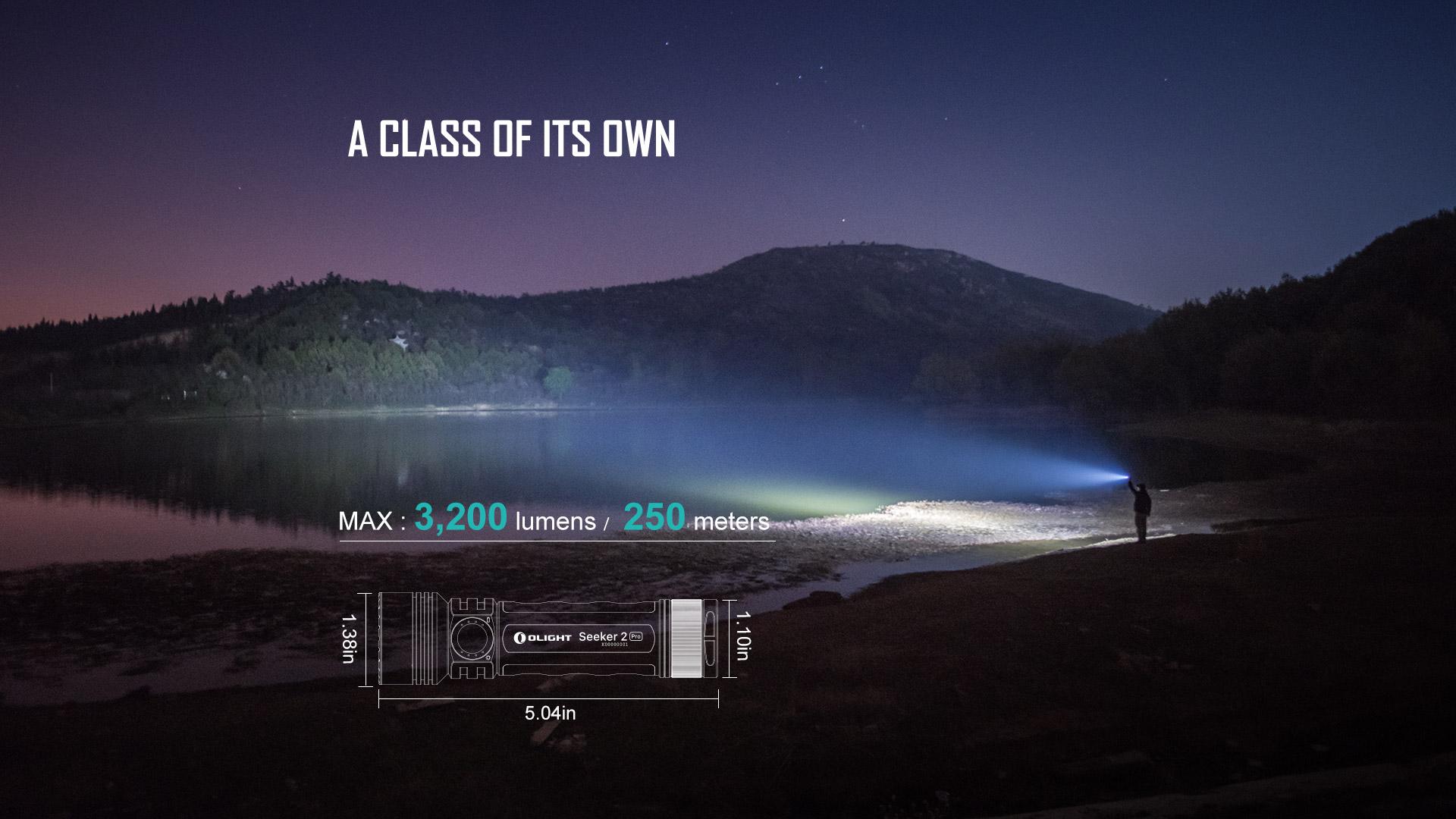 Seeker 2 PRO Rechargeable Flashlight 3200 lumens