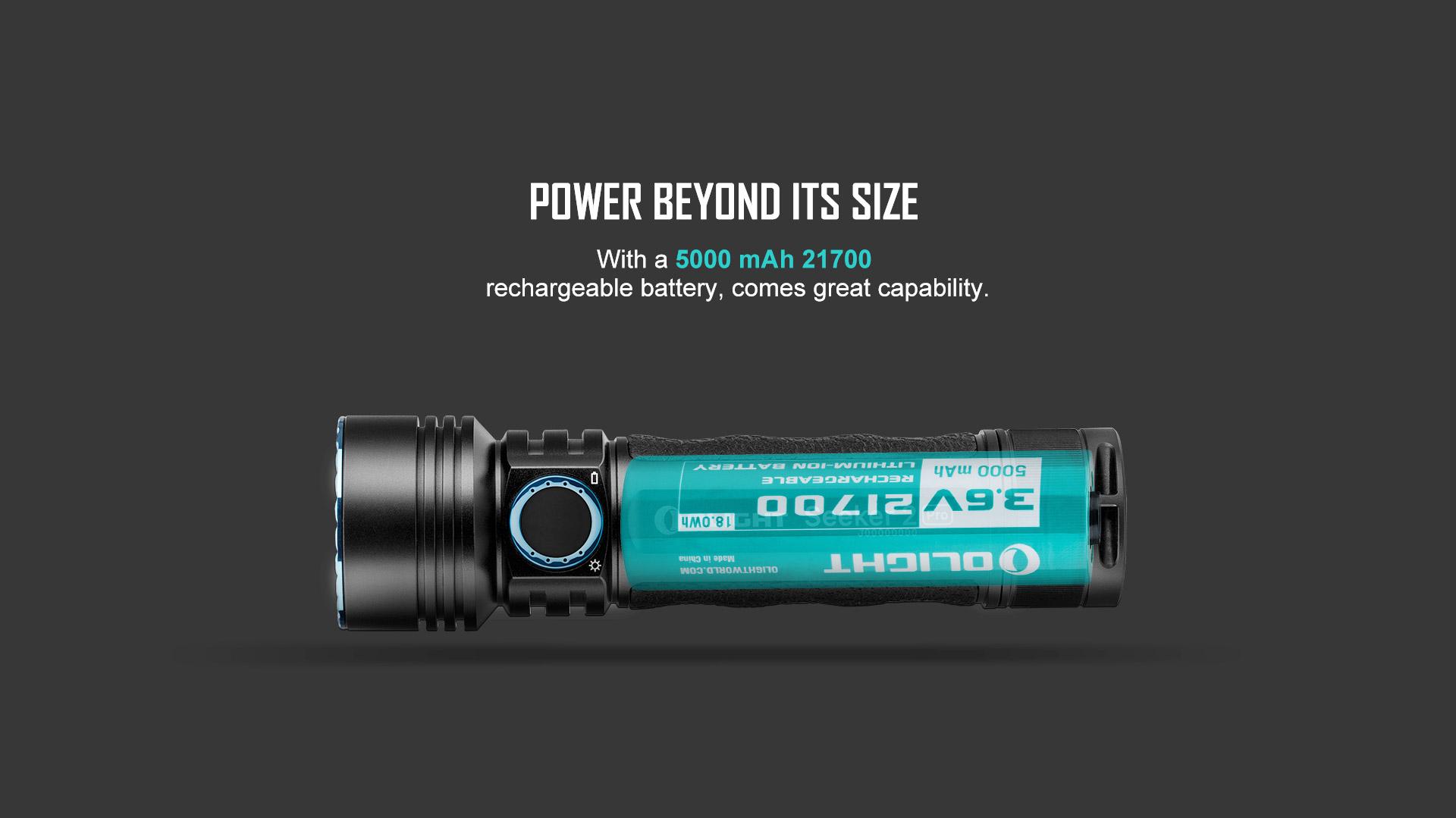 Seeker 2 PRO LED Flashlight rechargeable