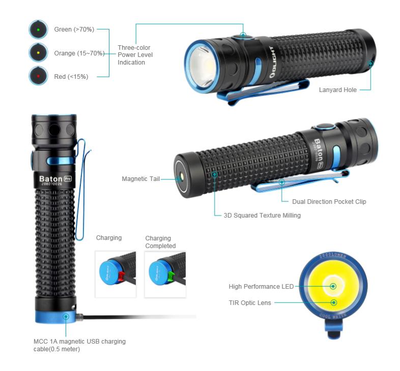 Baton Pro High Power Flashlight characteristic