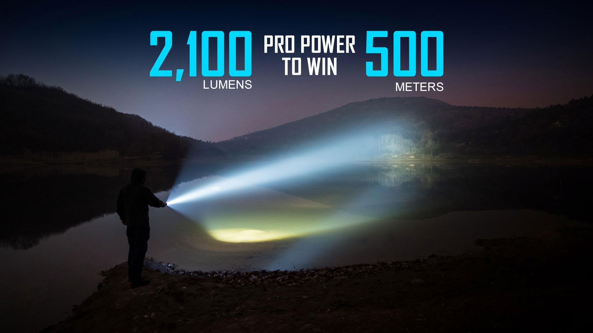 Warrior X Pro 2100 lumens tactical flashlight