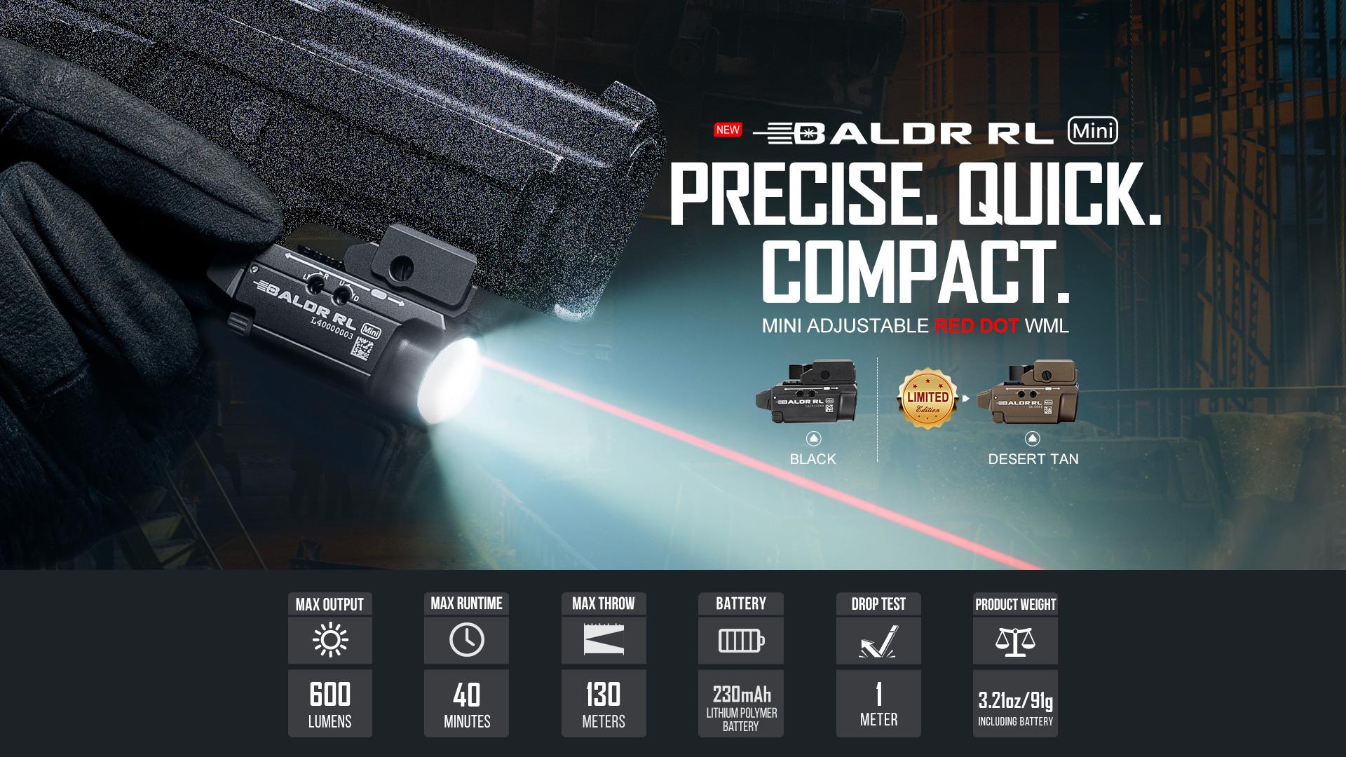 Baldr RL Mini Tactical Laser Flashlight