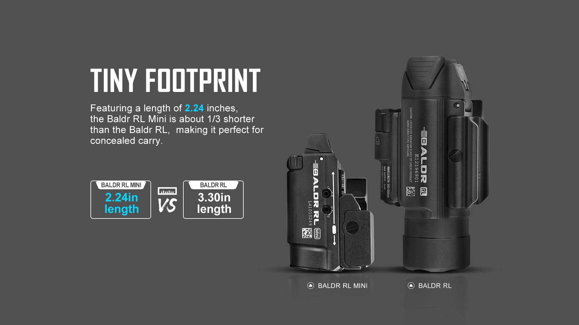 Baldr RL Mini Tactical Laser Flashlight tiny footprint