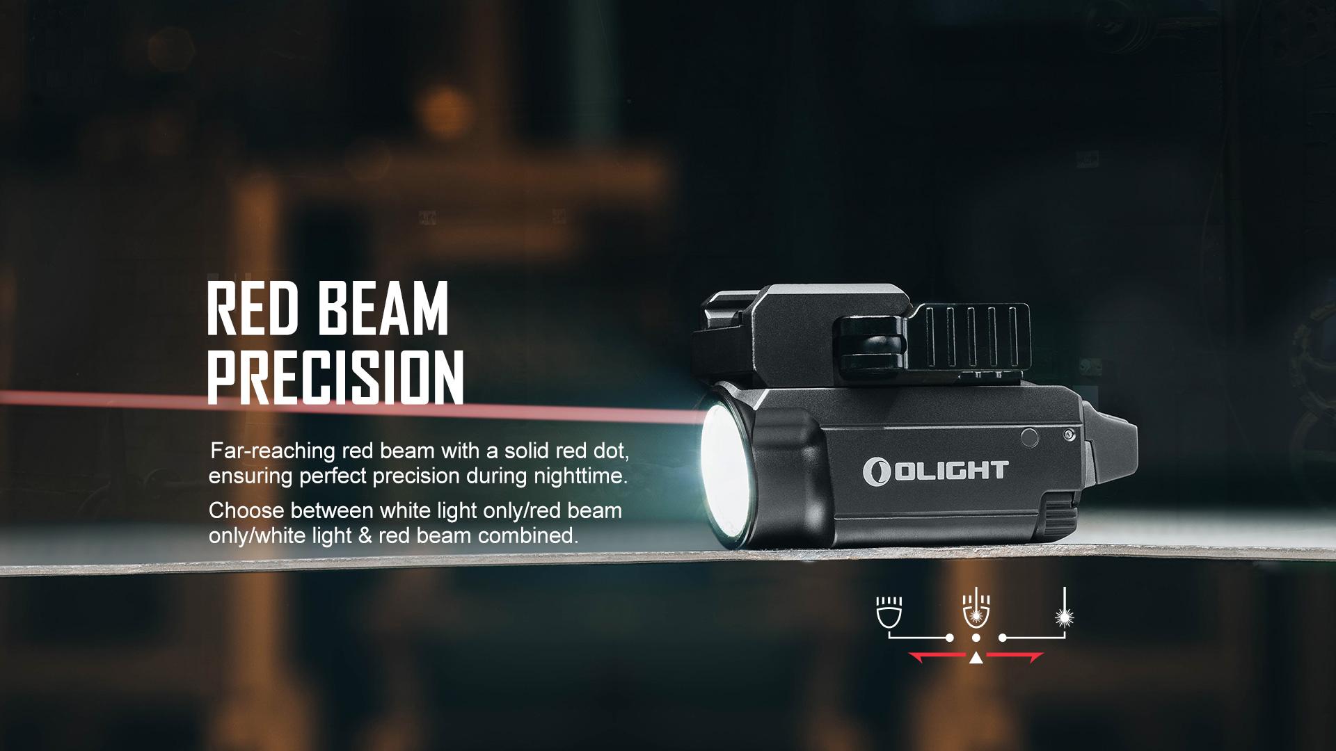 Baldr RL Mini Tactical Laser Flashlight red beam