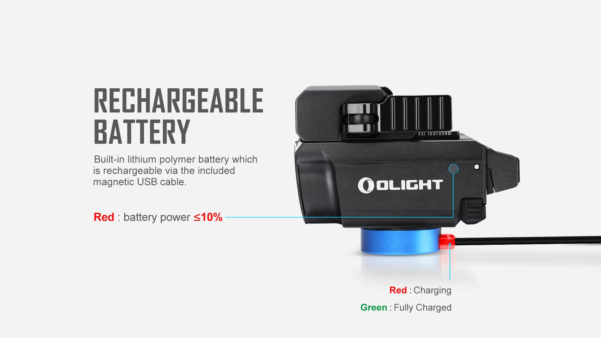 Baldr RL Mini Tactical Laser Flashlight magnetic rechargeable
