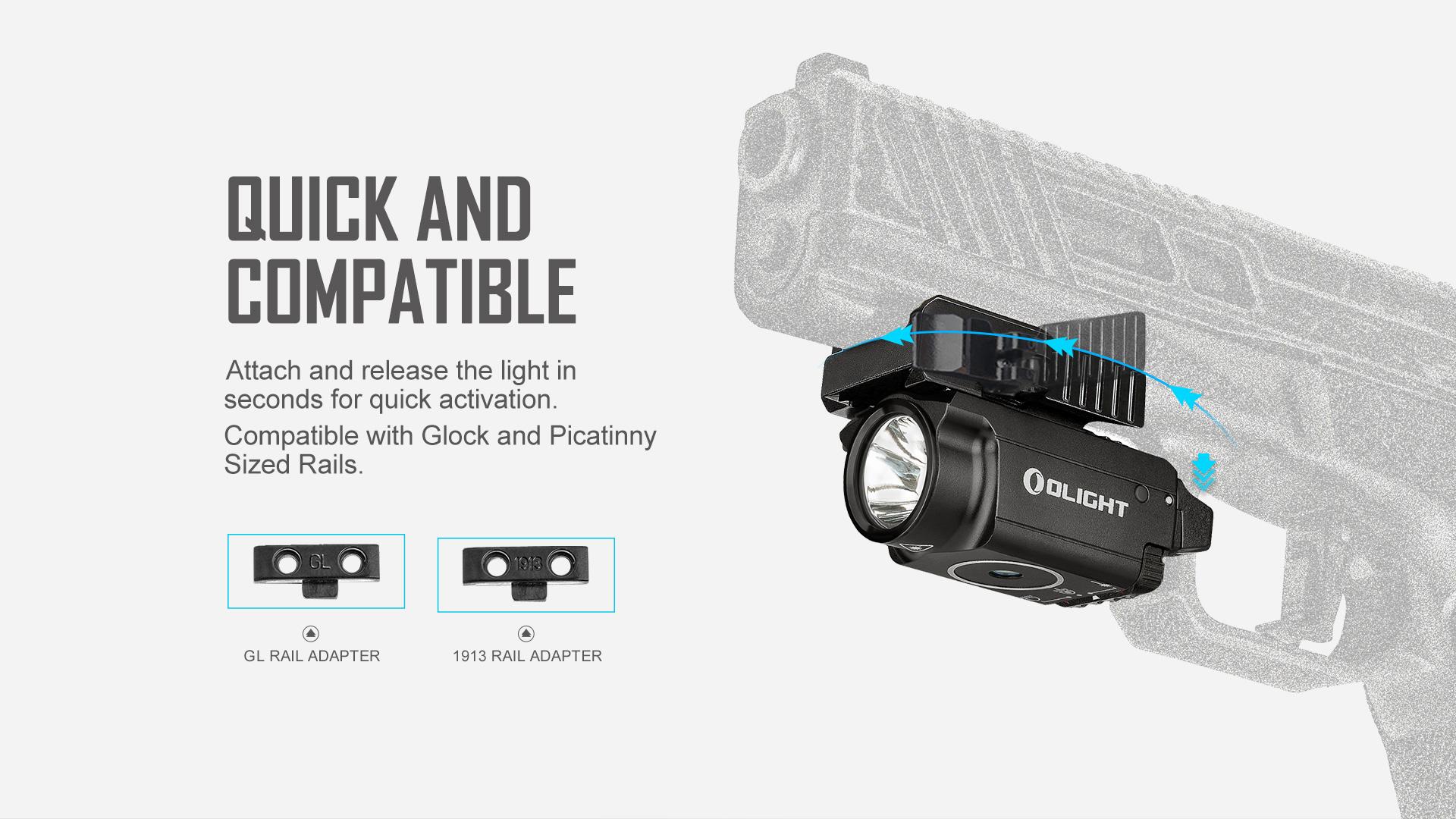 Baldr RL Mini Tactical Laser Flashlight quick and compatible