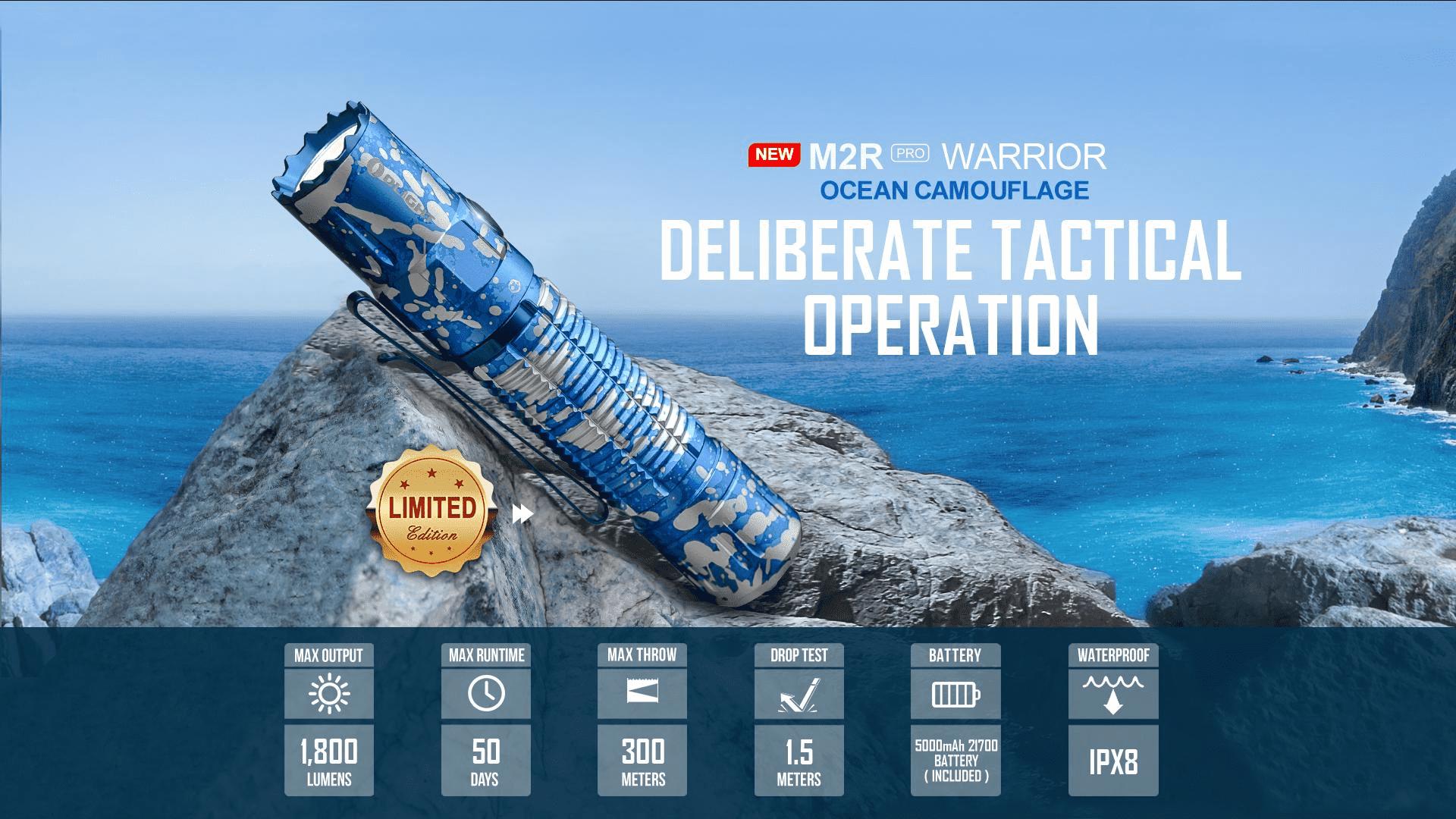 Olight M2R Pro Best Tactical Flashlight Details