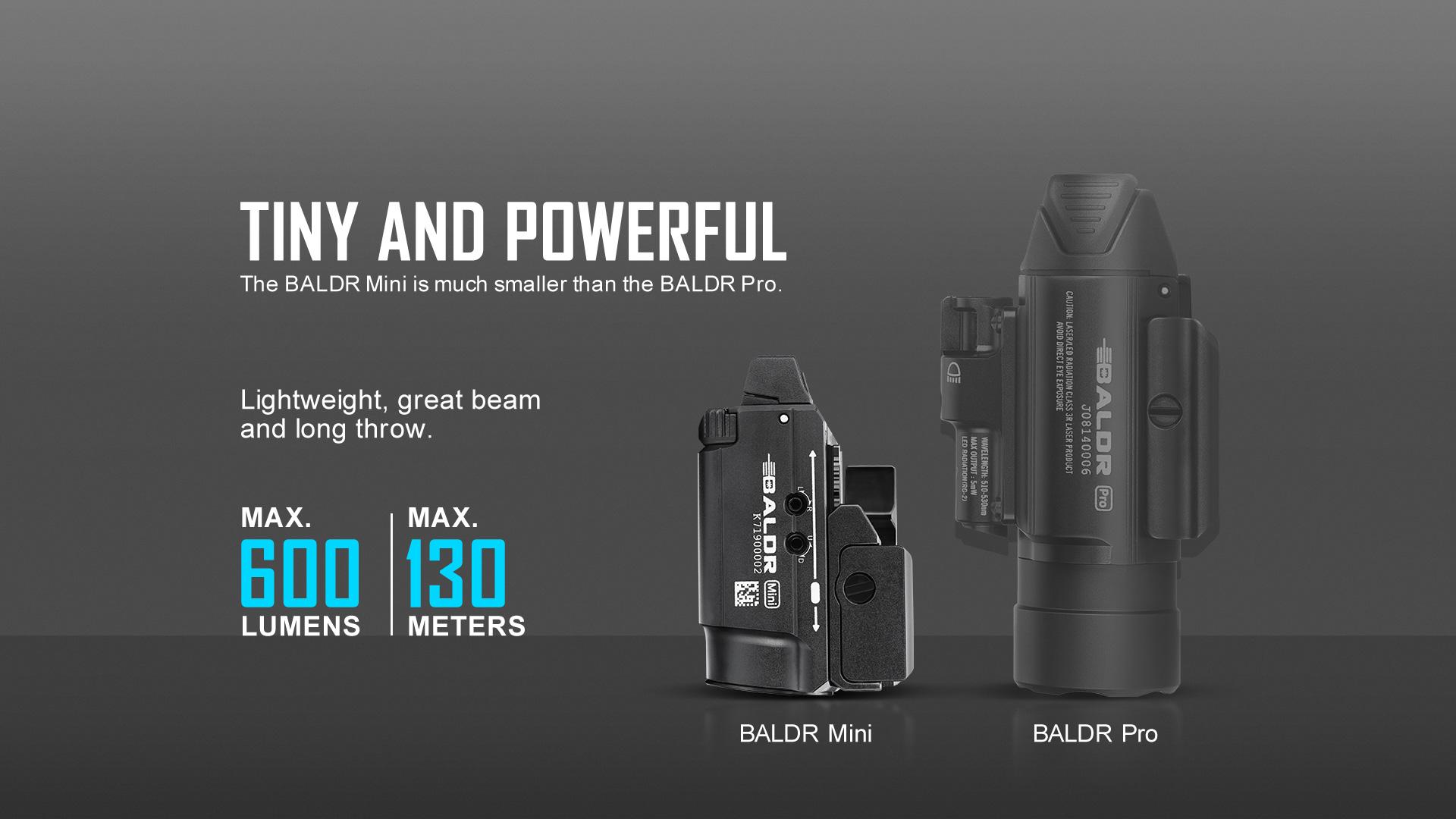 baldr mini tactical light laser combo
