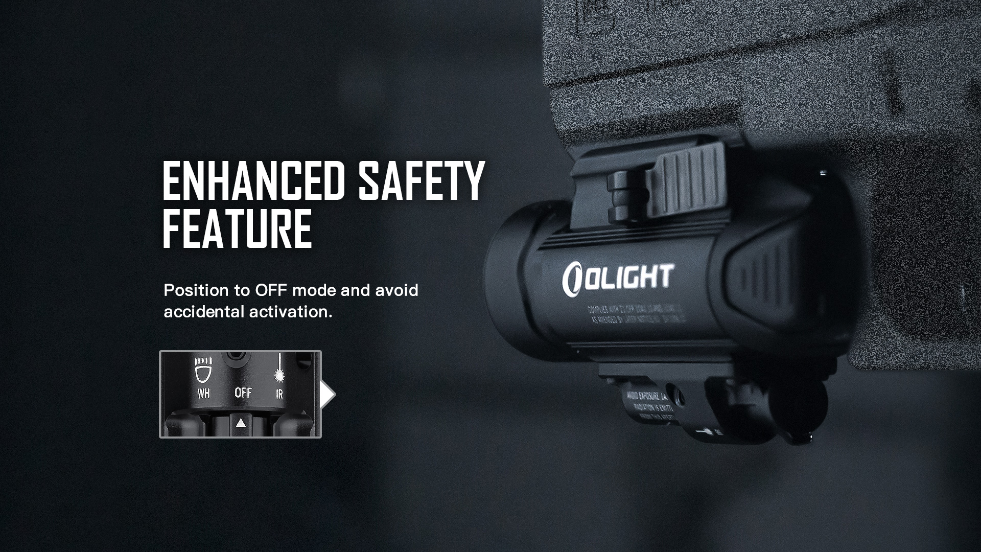 Olight Baldr IR Rail Mount Tactical Light Safe Function