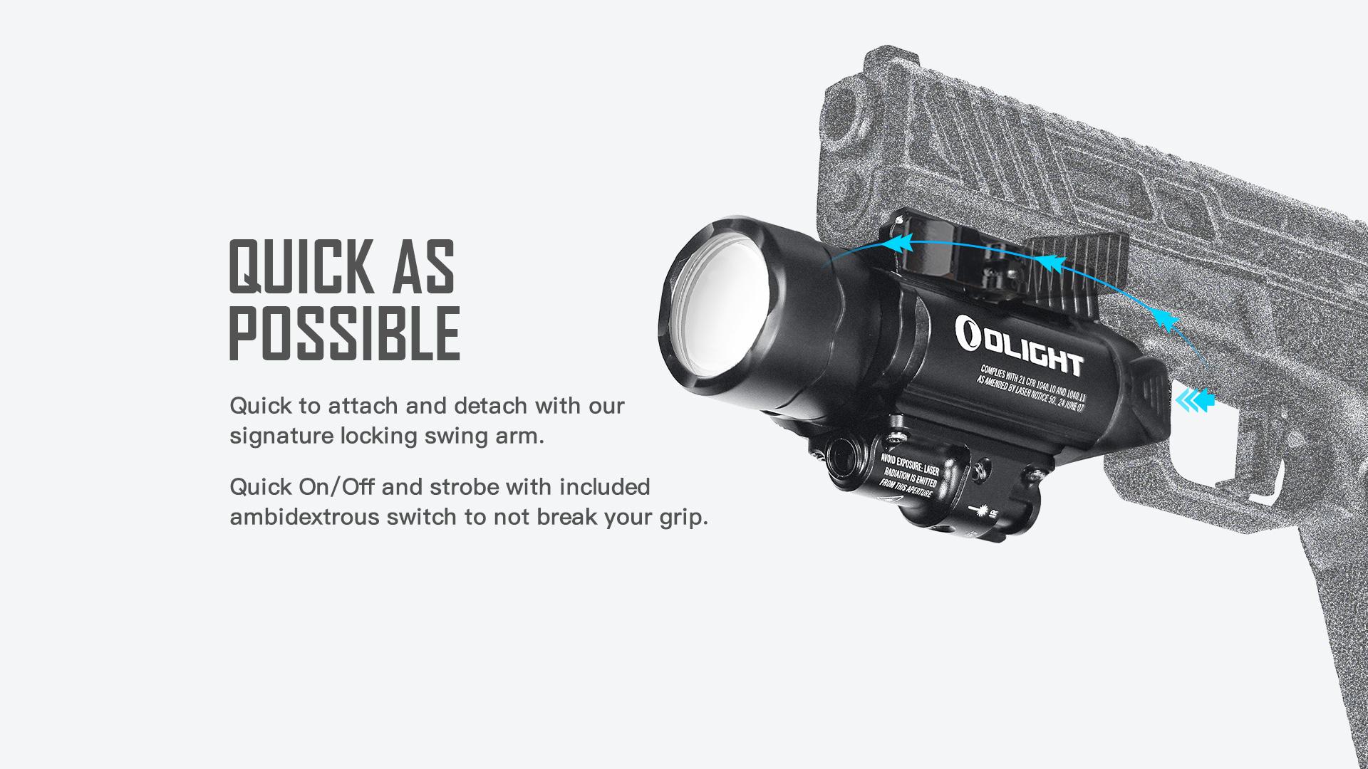 Olight Baldr IR Rail Mount Tactical Light Quick Adapter