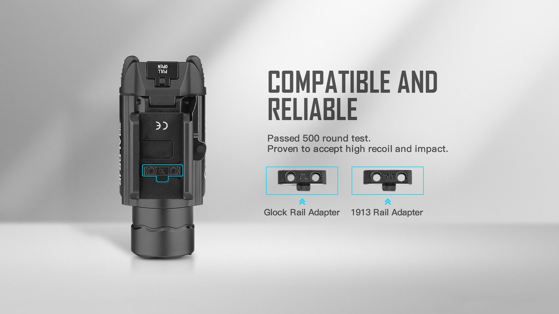 Olight Baldr IR Rail Mount Tactical Light With Free Adapter