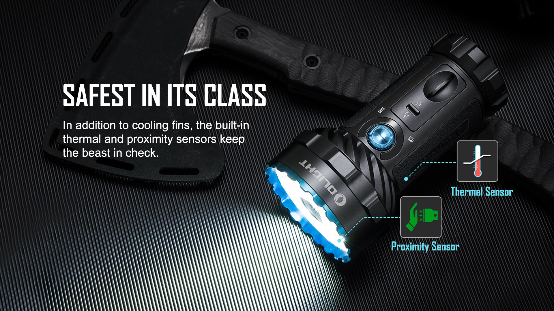 Olight Marauder 2 Most Powerful Flashlight Safe in Class