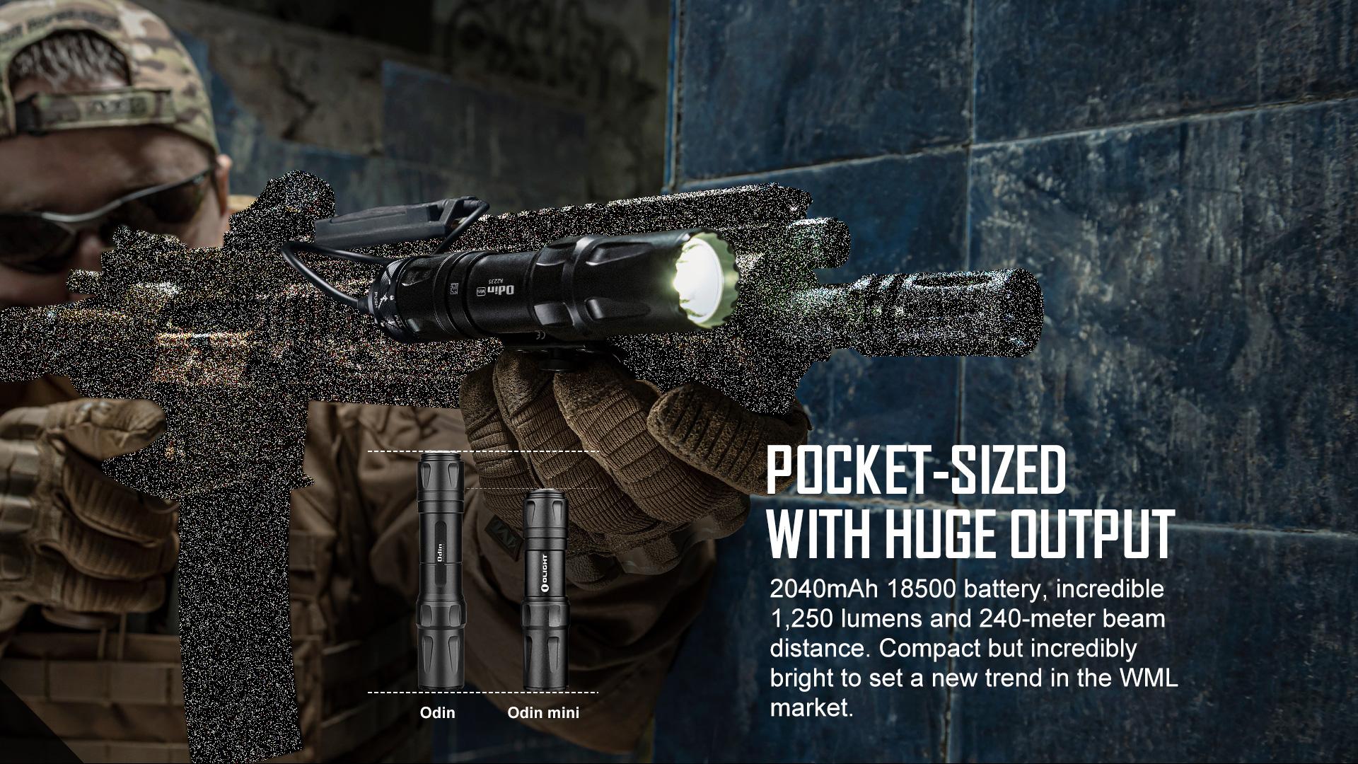 Olight Odin Mini Small Tactical Flashlight Small but Powerful