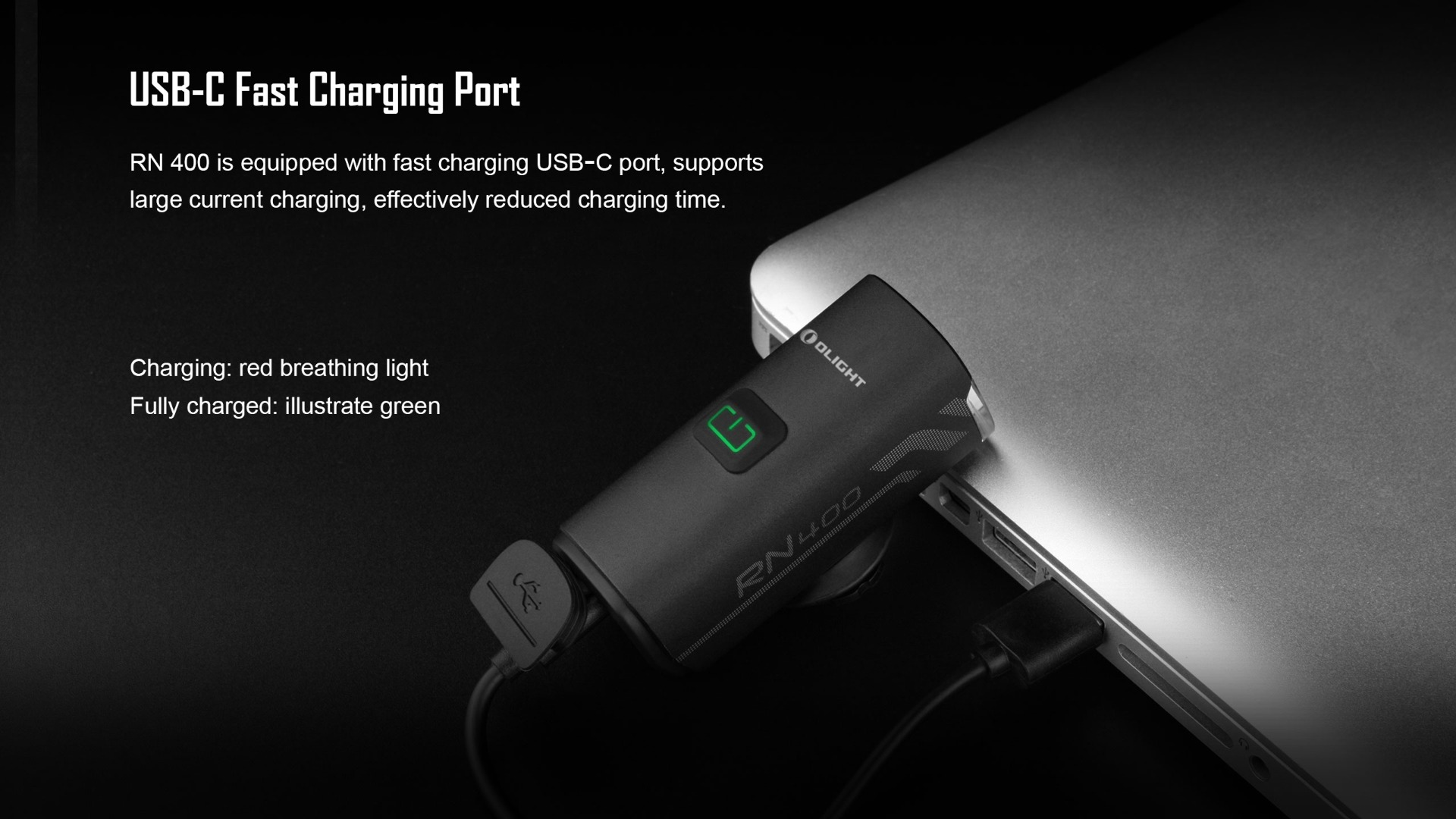 Olight RN 400 Bike LED Light Headlight USB-C Charging