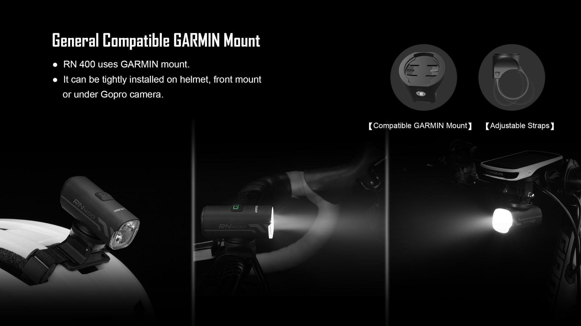 Olight RN 400 Bike LED Light Headlight Garmin Mount