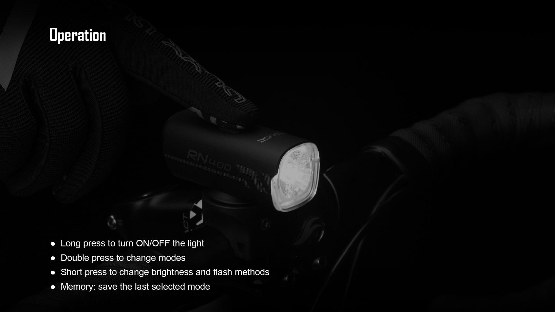 Olight RN 400 Bike LED Light Headlight Easy Operation