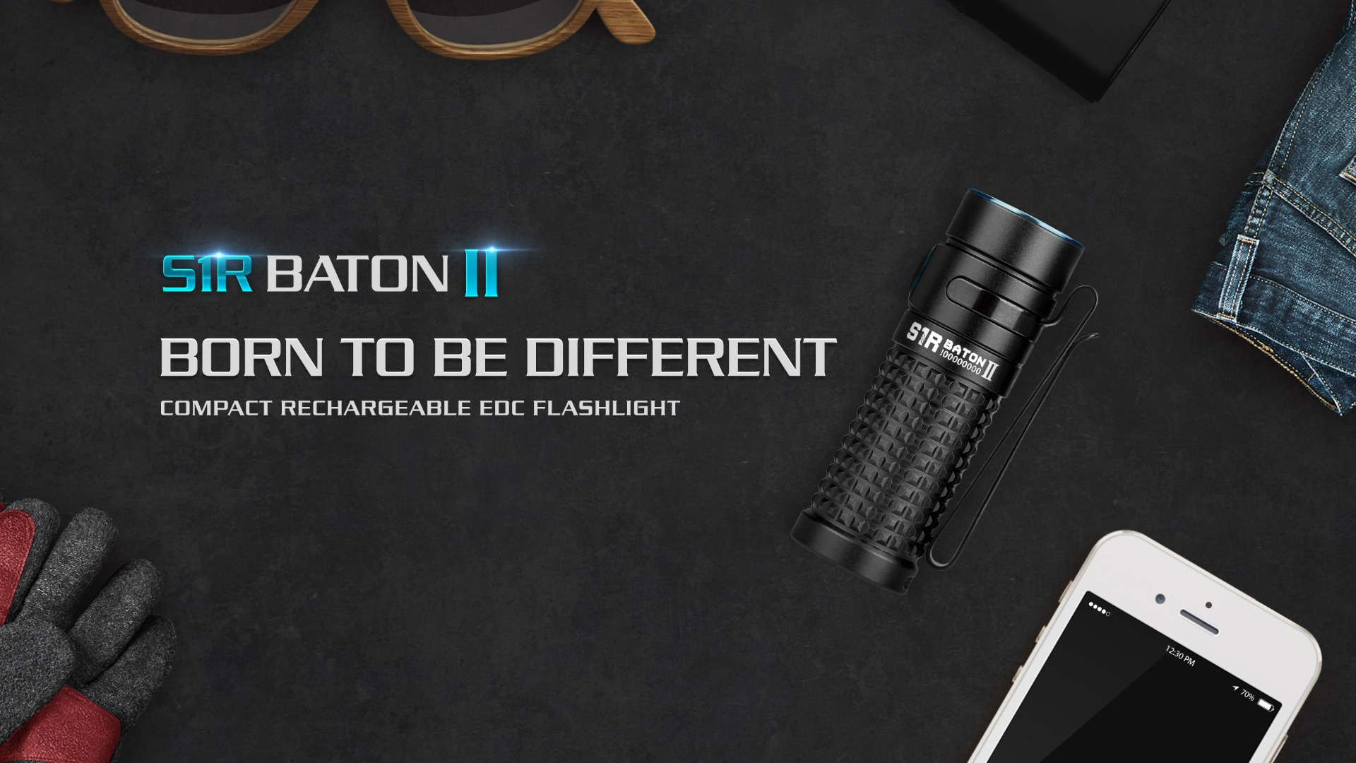 S1R Baton II Rechargeable EDC Flashlight