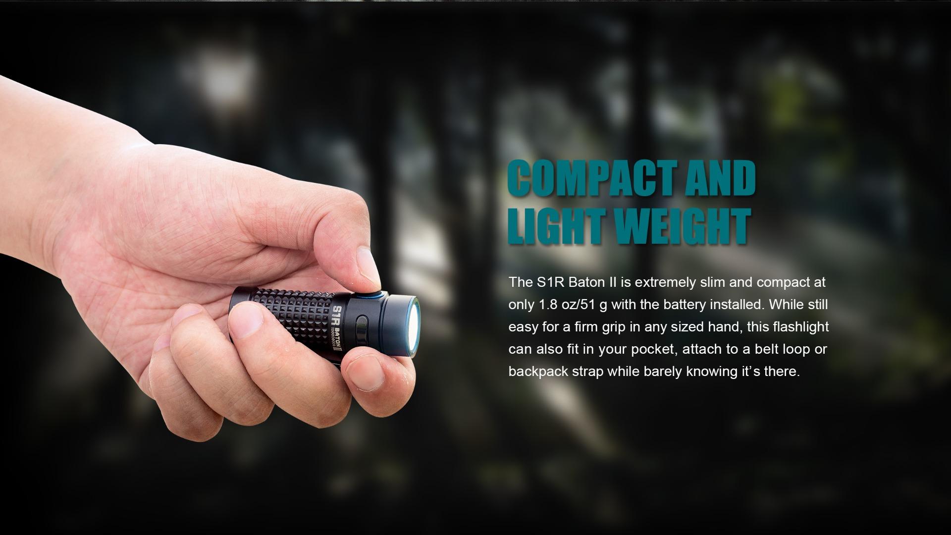 S1R Baton II  EDC Flashlight Compact