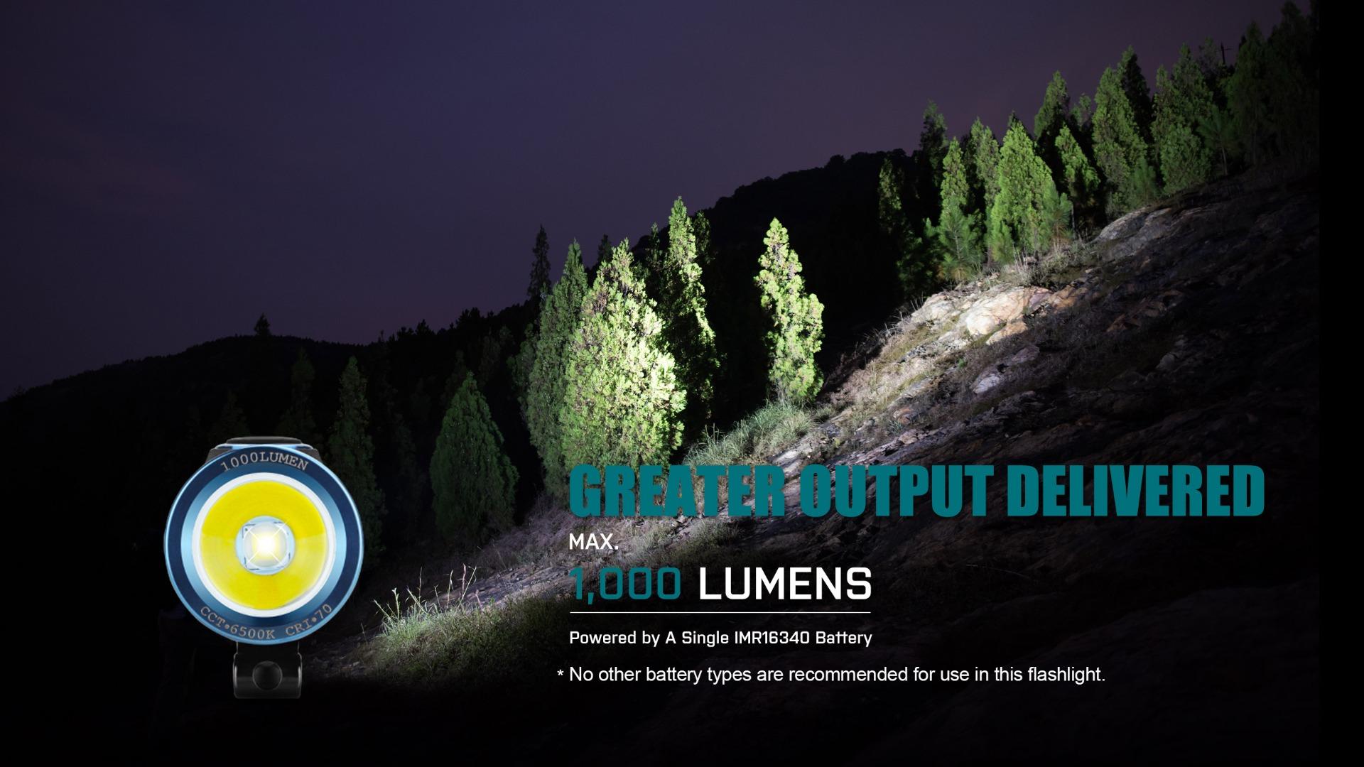 S1R Baton II 1000 Lumen Flashlight