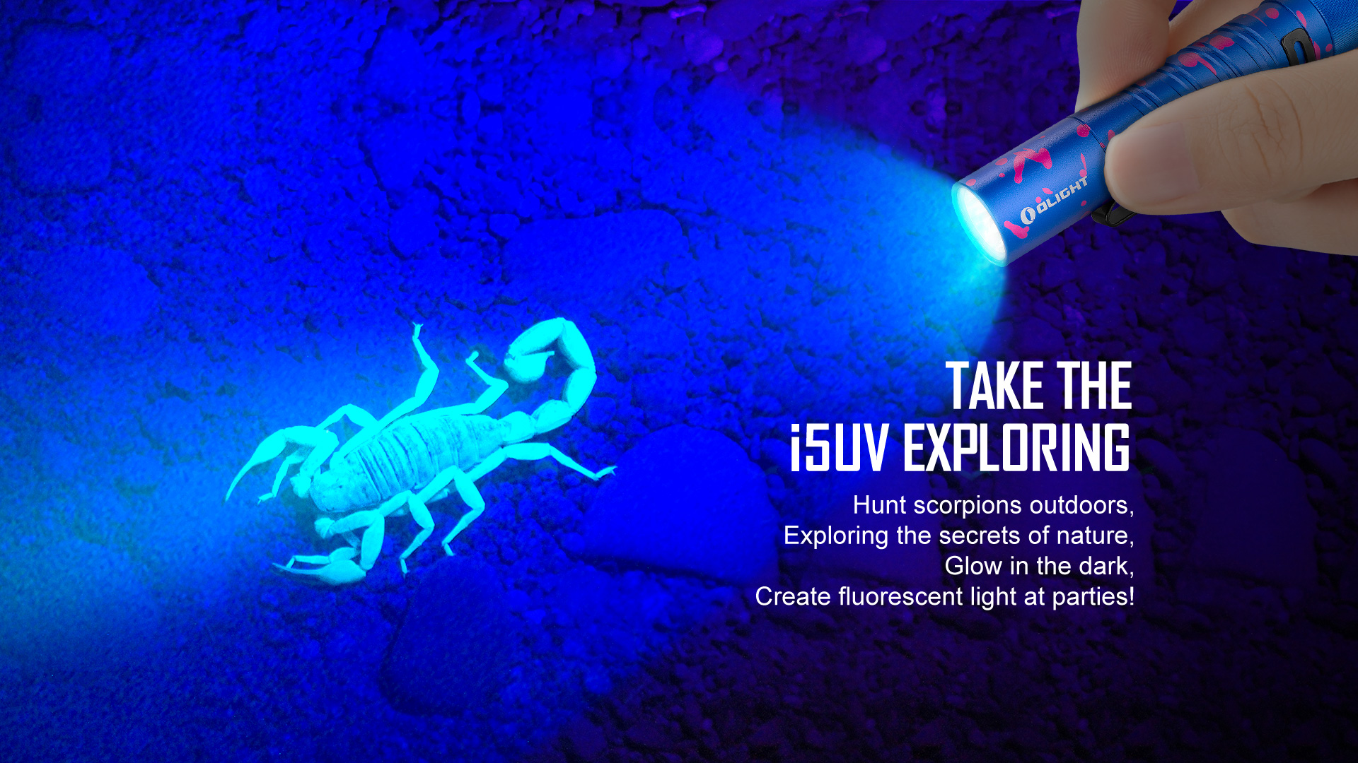 Olight i5 UV EOS Ultraviolet Flashlight Exploring