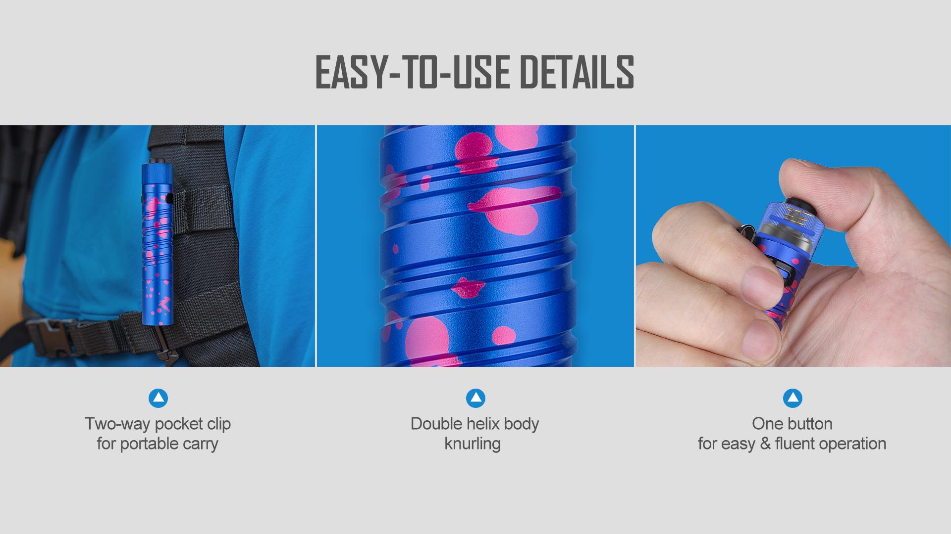 Olight i5 UV EOS Ultraviolet Flashlight Easy To Use
