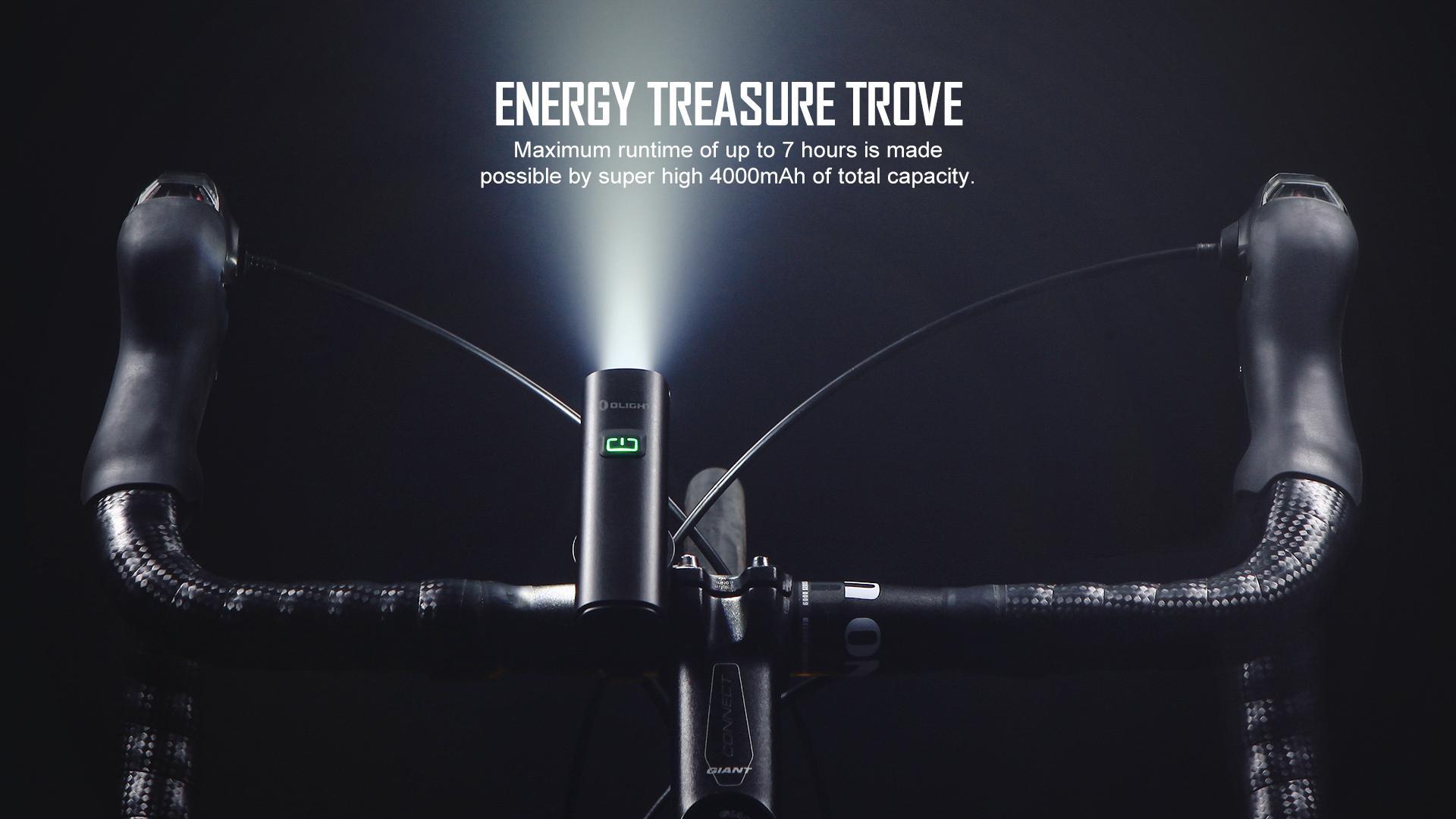 RN 1200 Long Runtime Cycling Light