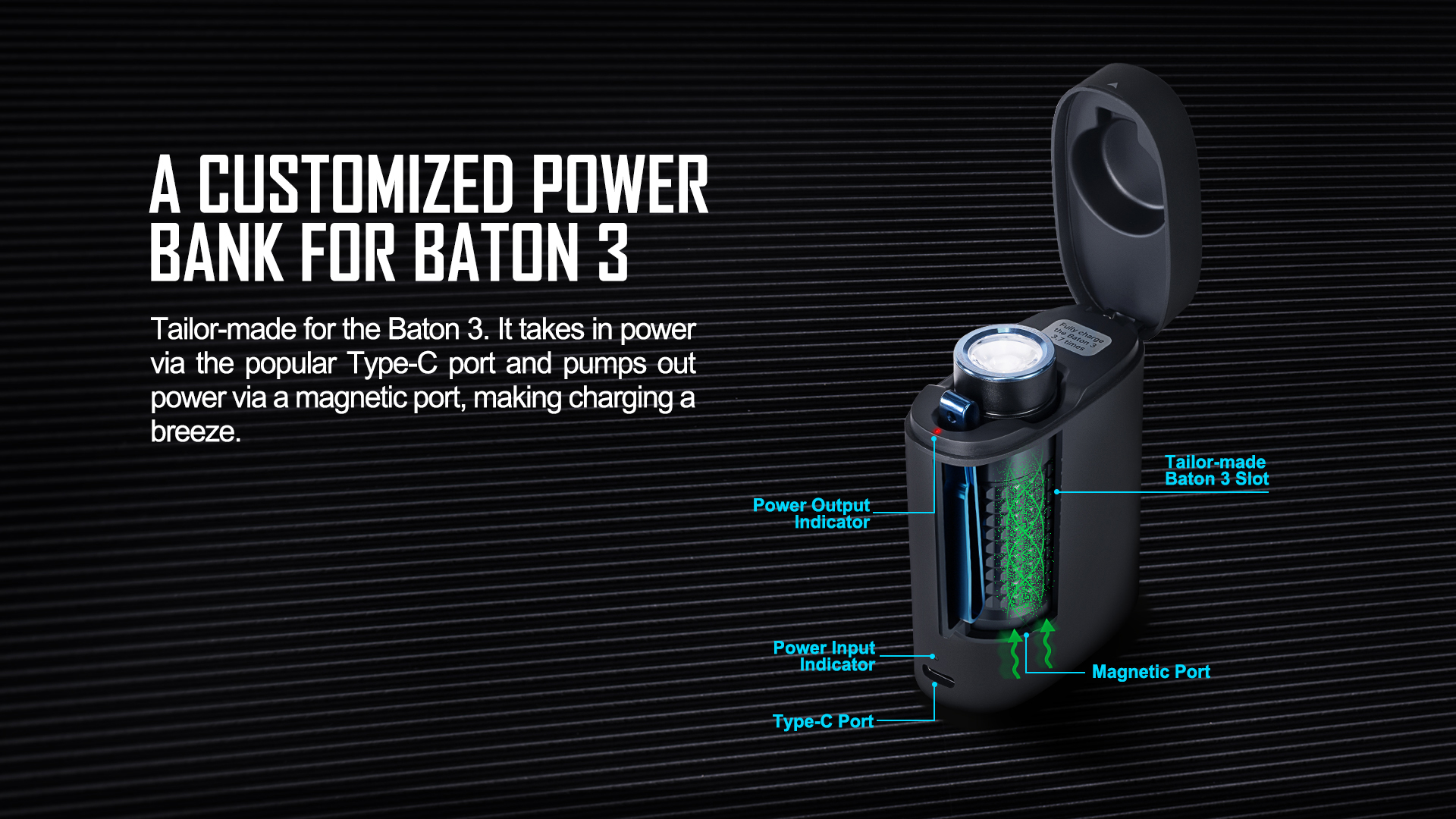 Olight Baton 3 Rechargeable LED Customized Power Bank