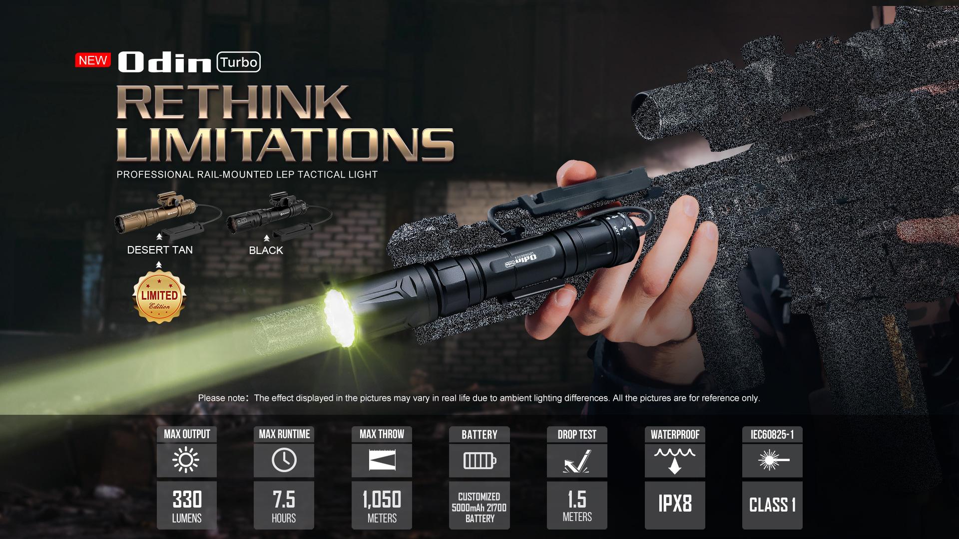 odin turbo tactical flashlight