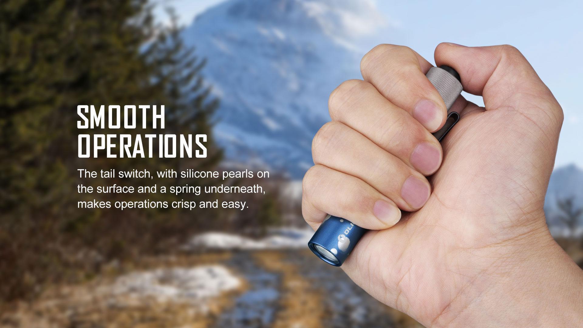 i3T EOS small flashlight easy operation