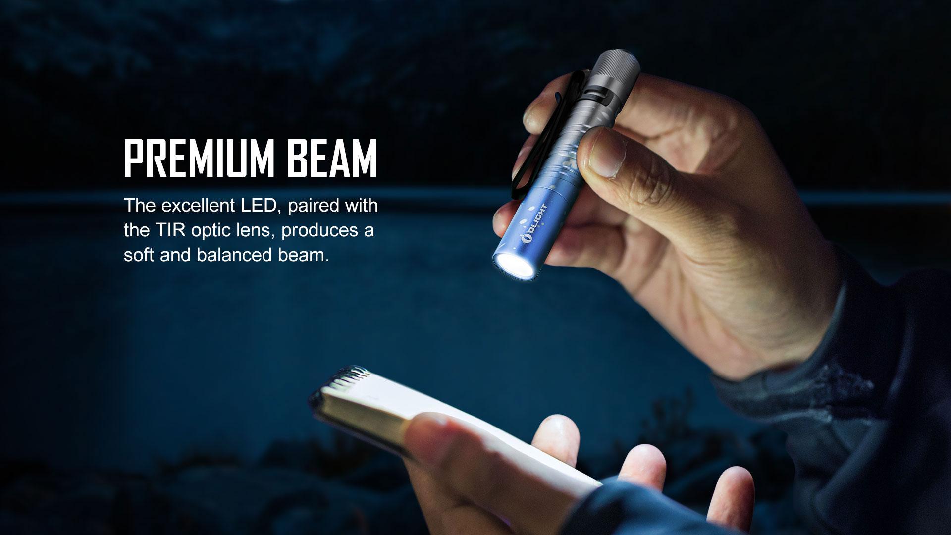 i3T EOS small flashlight premium beam