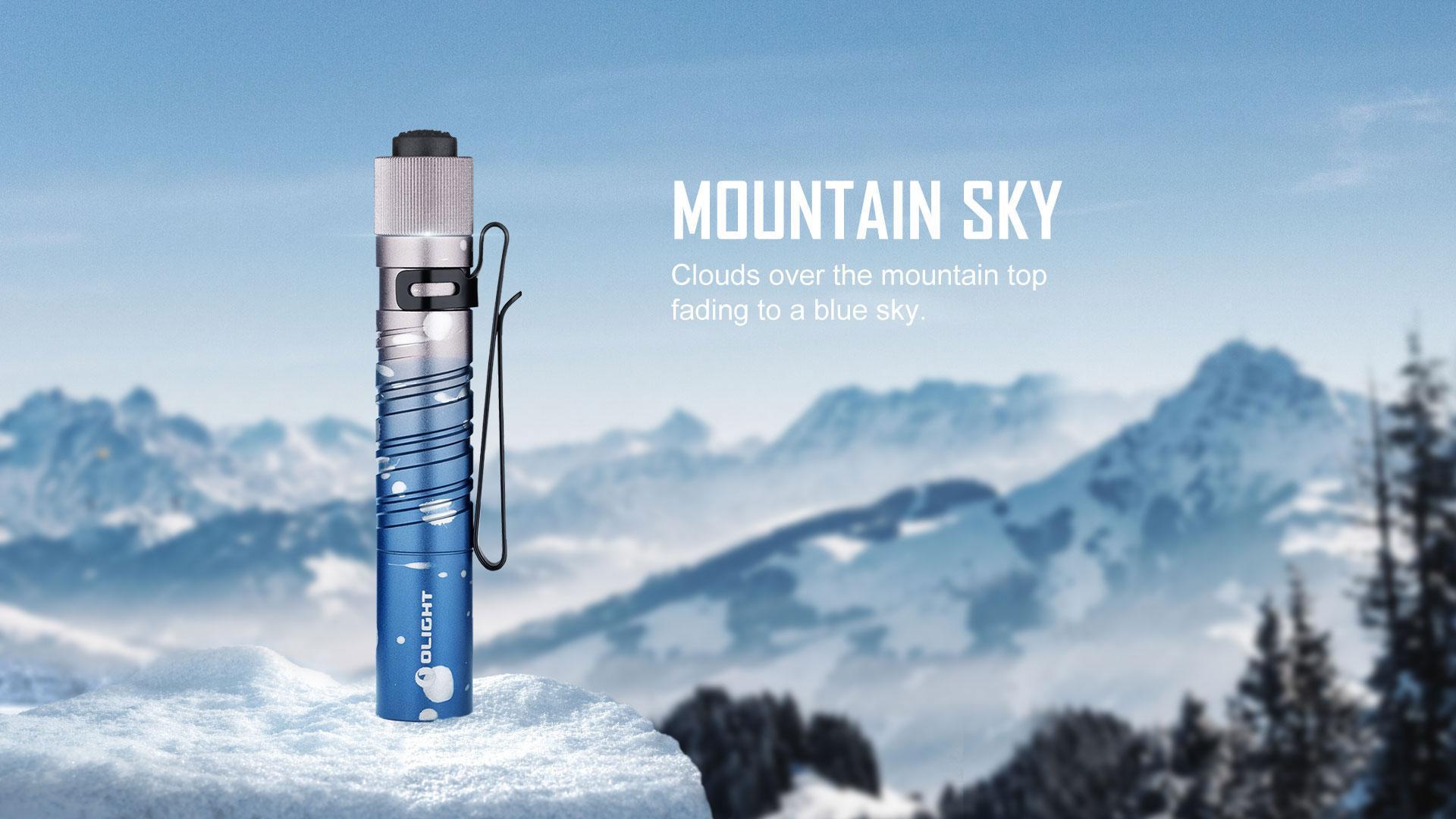 i3T EOS small flashlight mountain sky