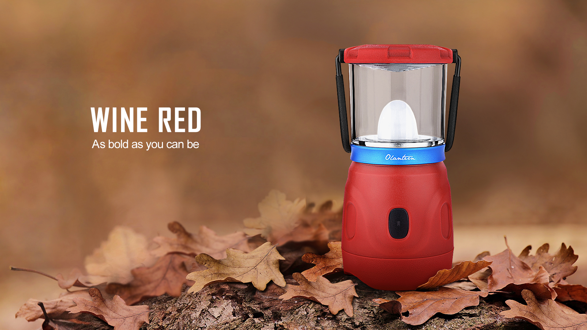 Olantern Rechargeable Camping Lights Wine Red