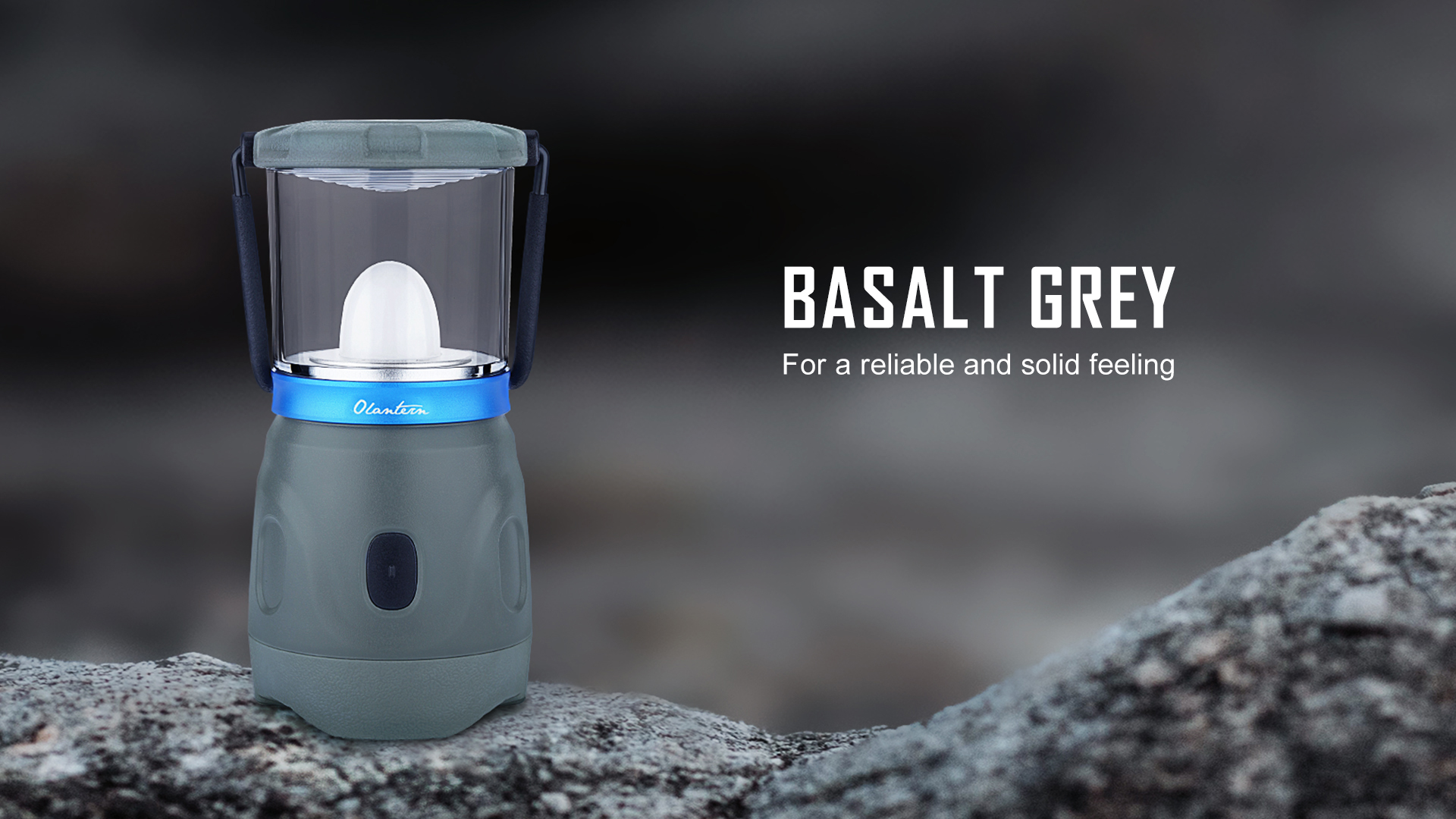 Olantern Rechargeable Camping Lights Basalt Grey